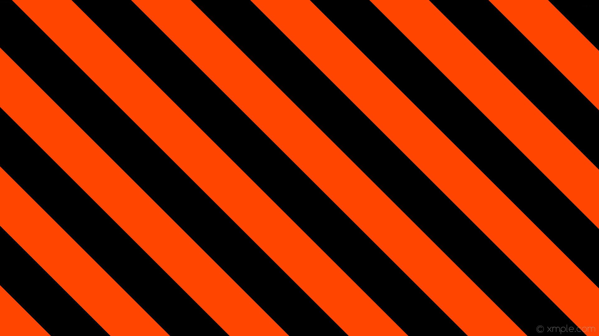 Res: 1920x1080, wallpaper stripes orange black lines streaks orangered #000000 #ff4500  diagonal 315° 135px