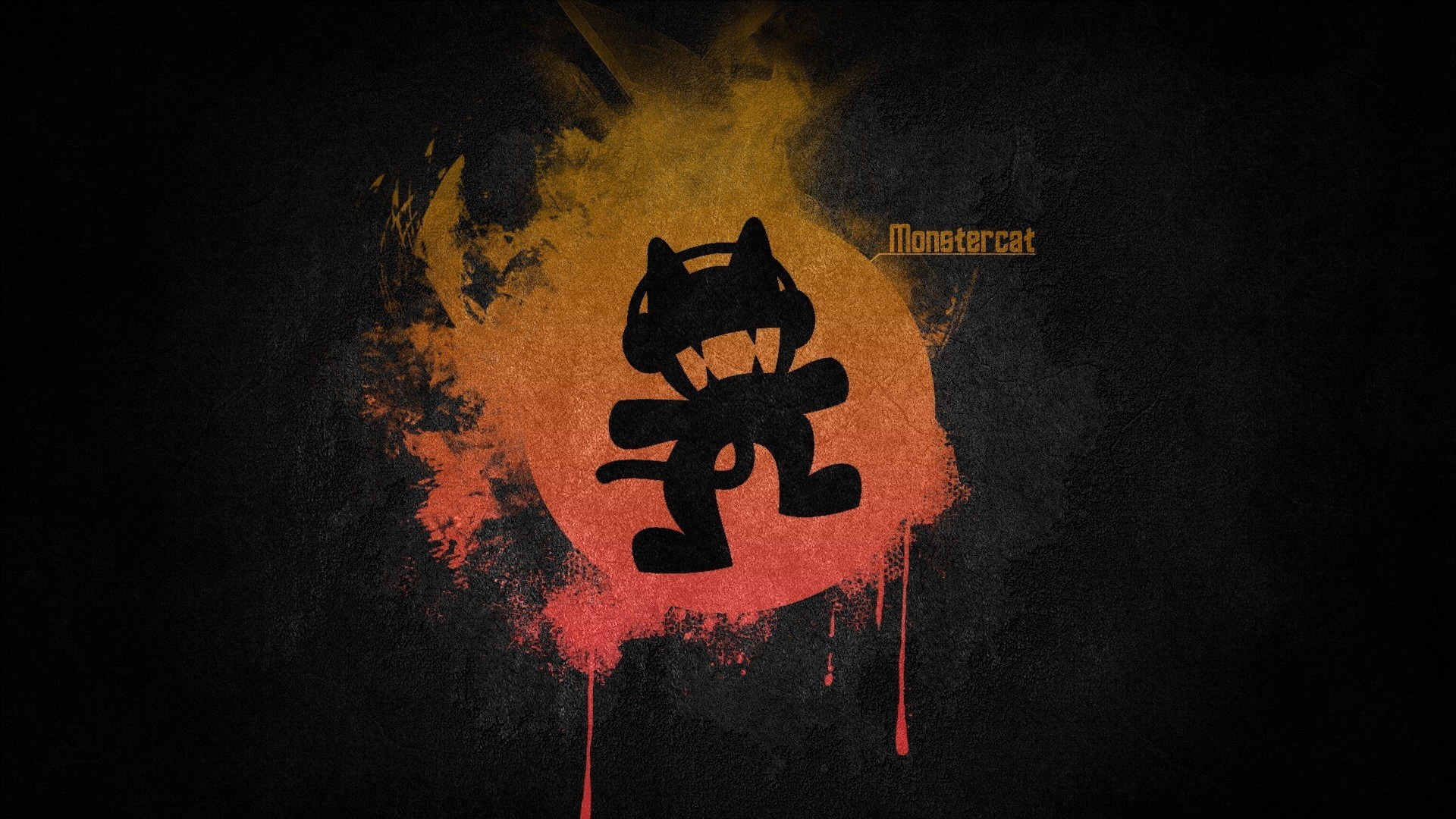 Res: 1920x1080, Black music red multicolor orange simple monstercat electronic wallpaper