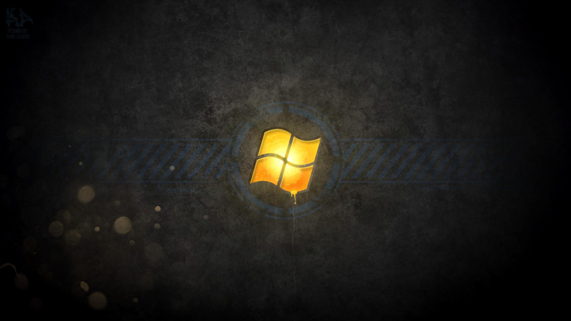 Res: 1920x1080, ... Windows Radioactive - Black-Orange by Shak-Designs