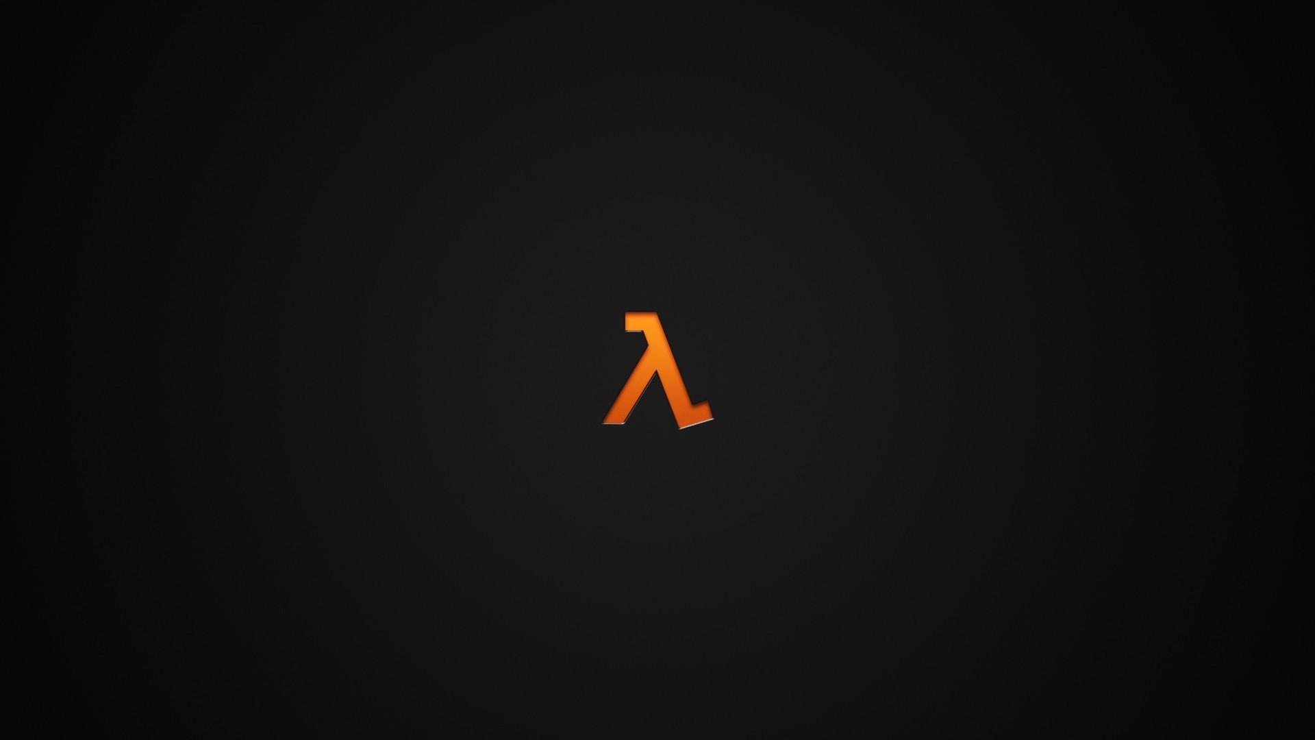 Res: 1920x1080, orange · minimalism · Half-Life · dark
