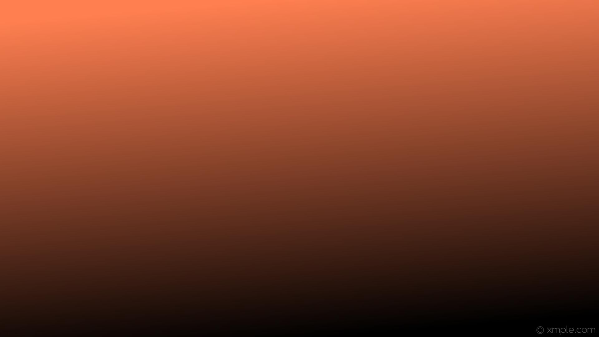 Res: 1920x1080, wallpaper gradient orange black linear coral #000000 #ff7f50 285°