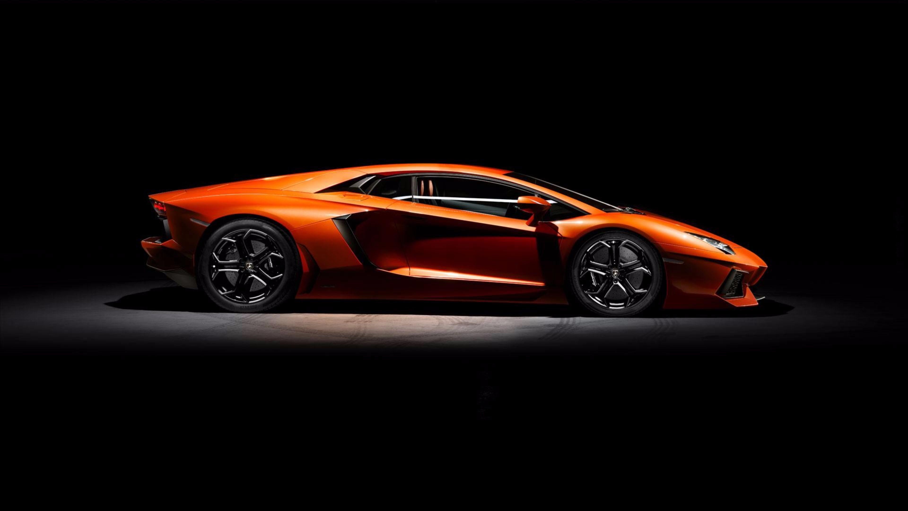 Res: 3840x2160, Black and Orange Lamborghini 4K Wallpapers