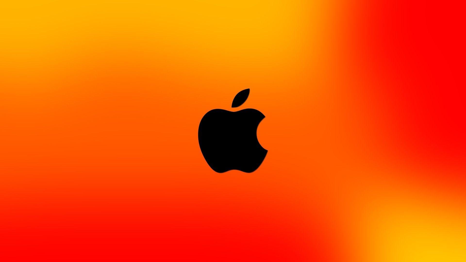 Res: 1920x1080, Orange Black Apple Wallpaper