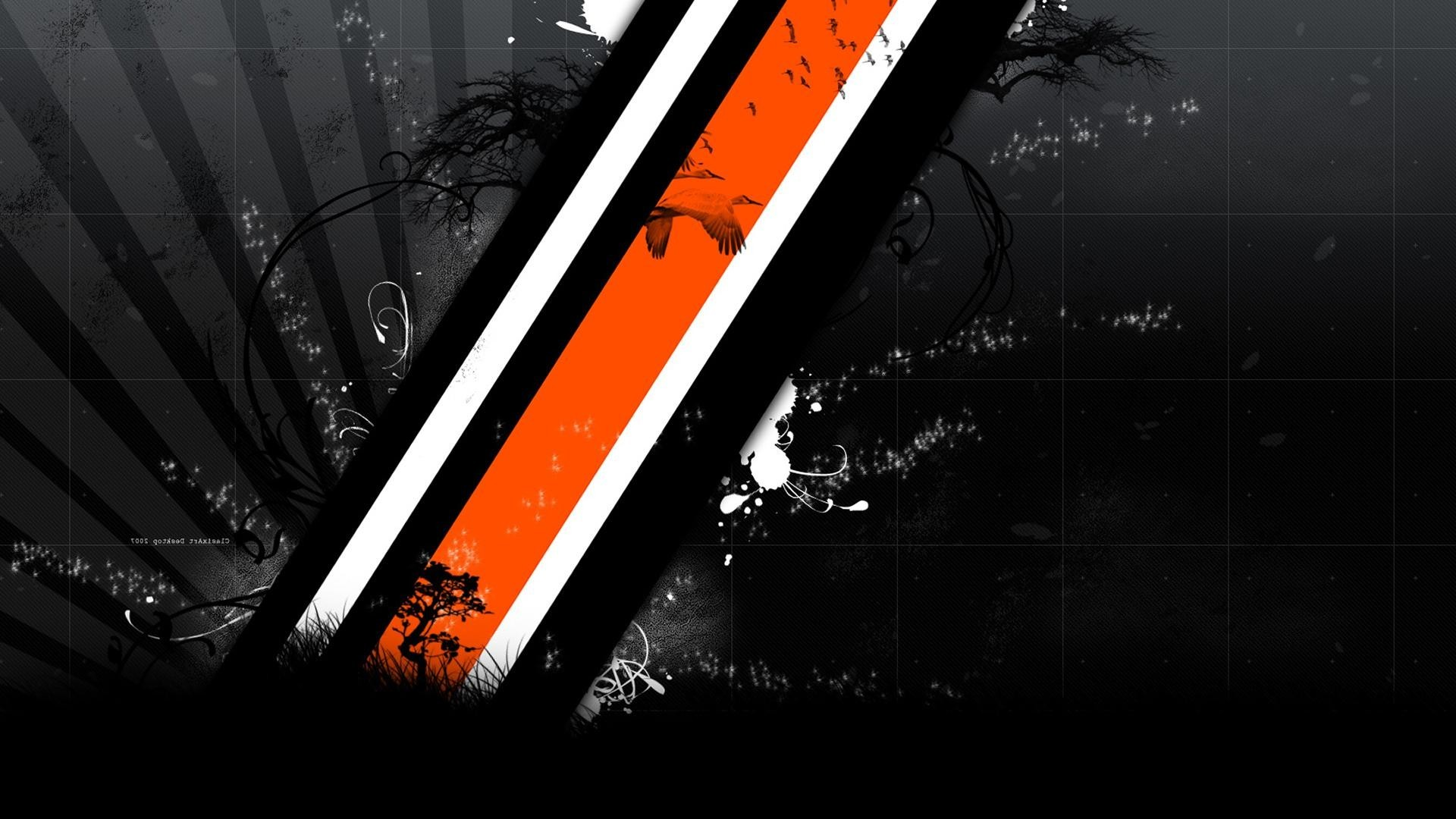 Res: 1920x1080, ... Black Wallpap orange, Strap on, Abstract Wallpapers HD Desktop and  Mobile