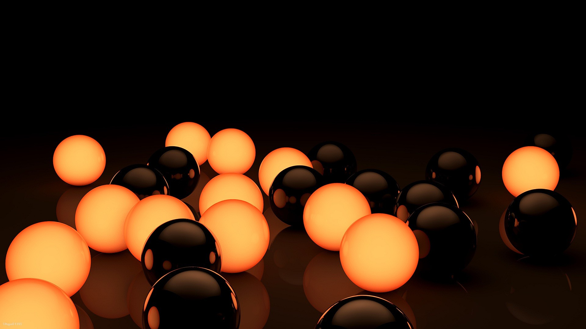 Res: 1920x1080, Black orange 3D globe amazing