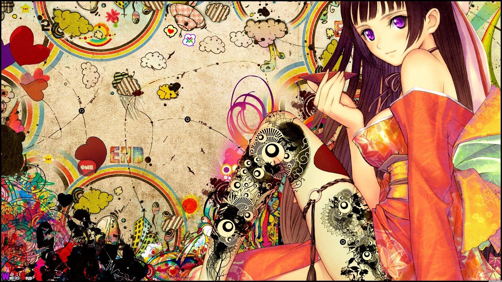 Res: 1920x1080, Anime Girl Japanese Tattoo Wallpaper, Size:    AmazingPict.com -  HD Wallpapers