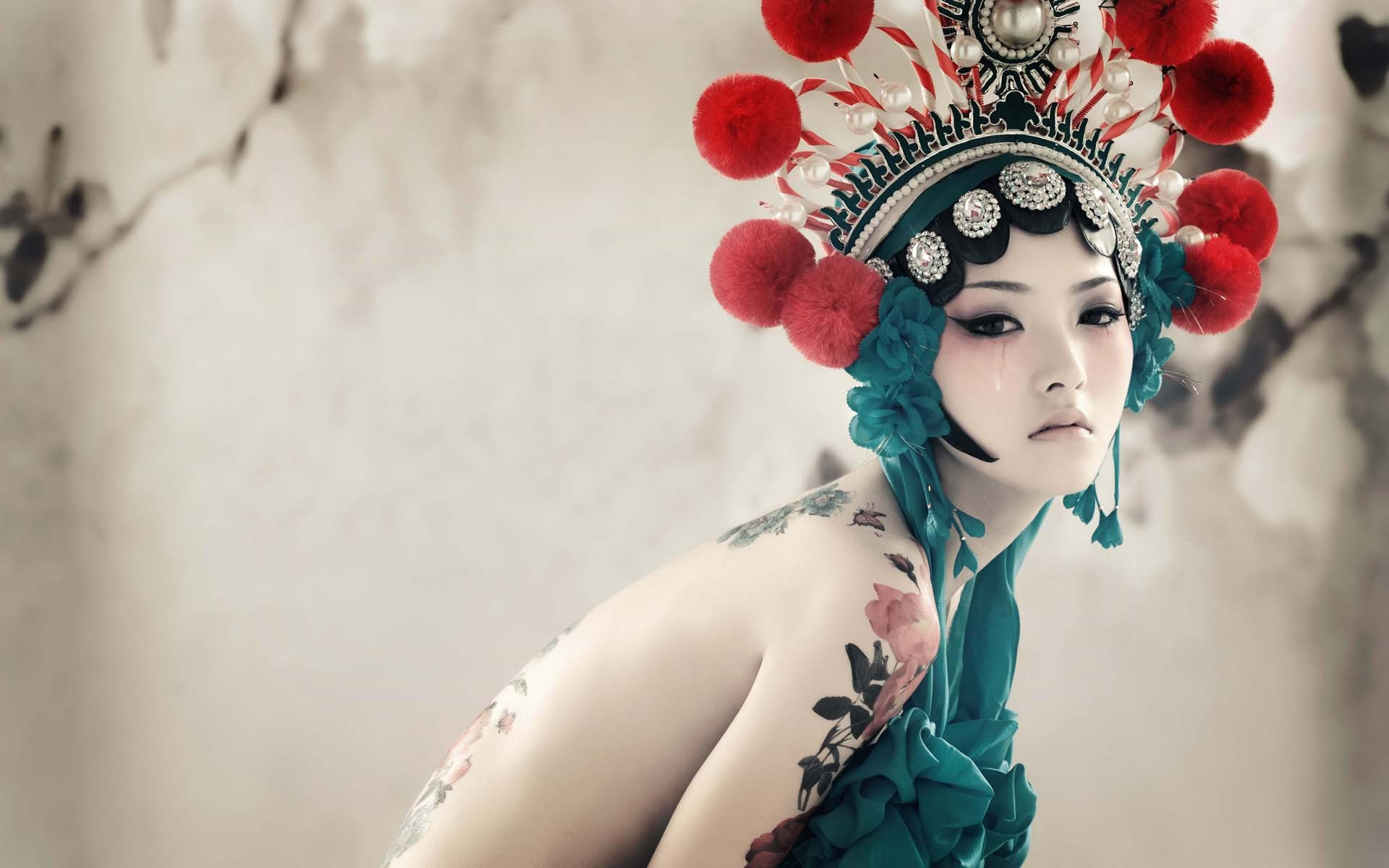 Res: 1920x1200, Japanese girl with tattoos