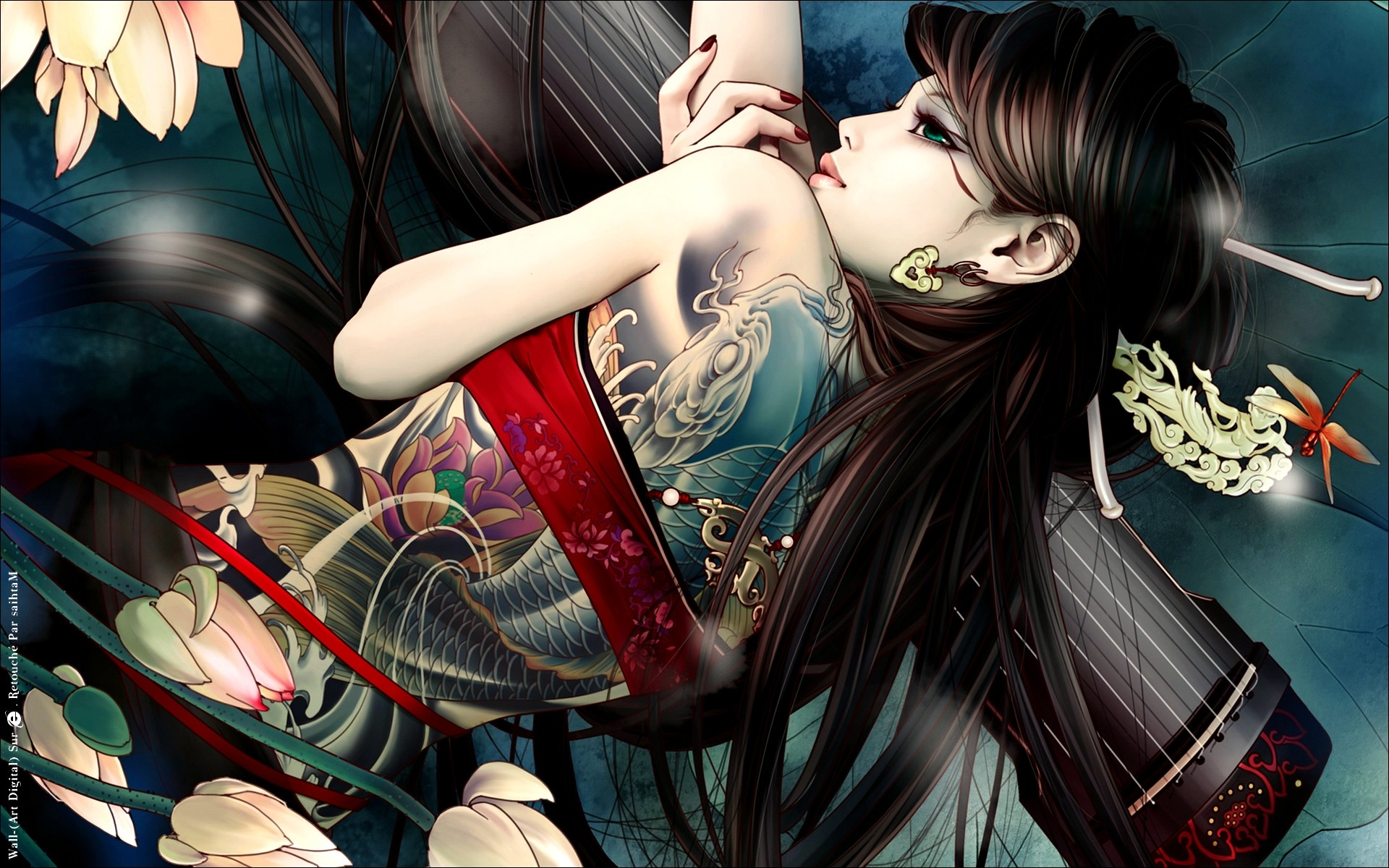 Res: 1920x1200, Awesome Japanese Tattoo Girl Wallpaper 67 to tattoo arm sleeve with Japanese  Tattoo Girl Wallpaper