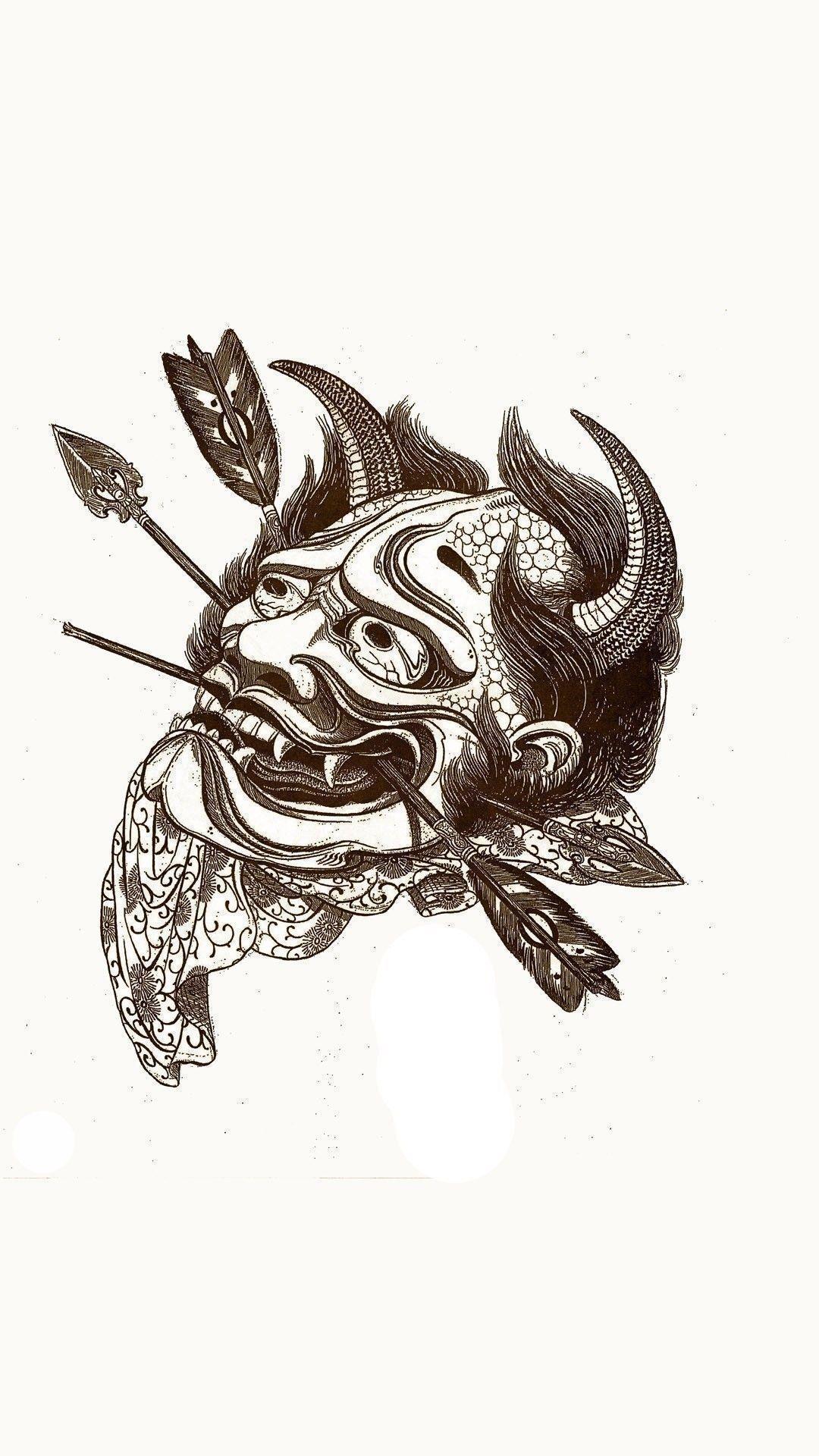 Res: 1080x1920, Japanese tattoo design Mobile Wallpaper 5639