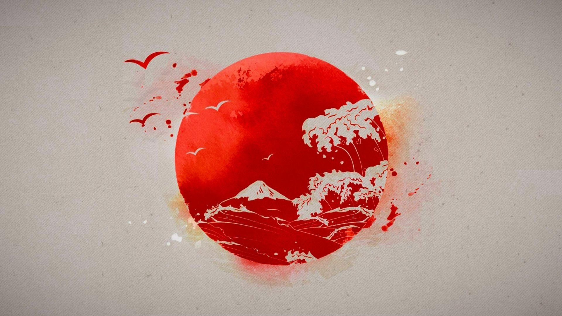 Res: 1920x1080, Japan Flag wallpaper
