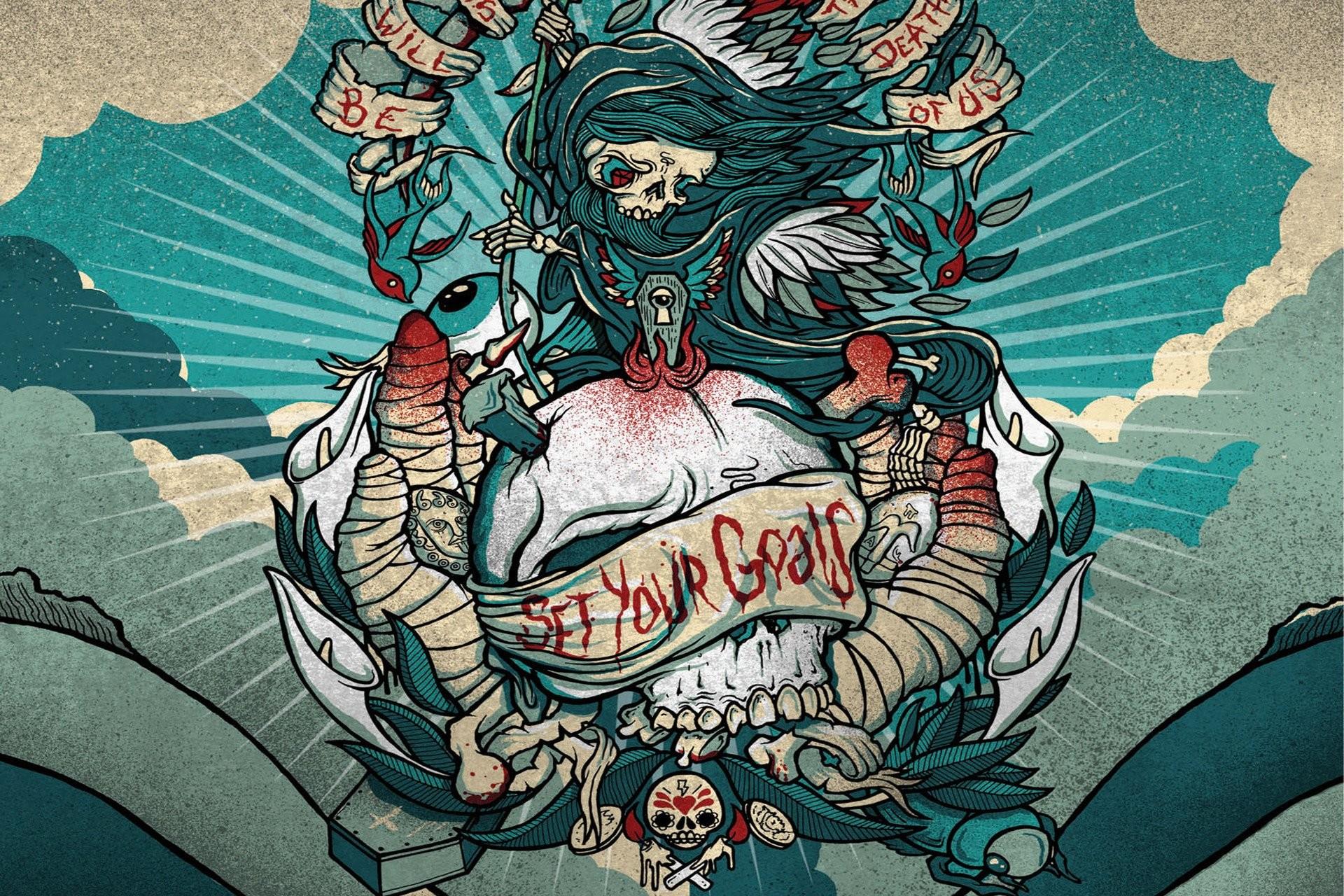 Res: 1920x1280, Tattoo dark skull quote blood wallpaper      329358 .