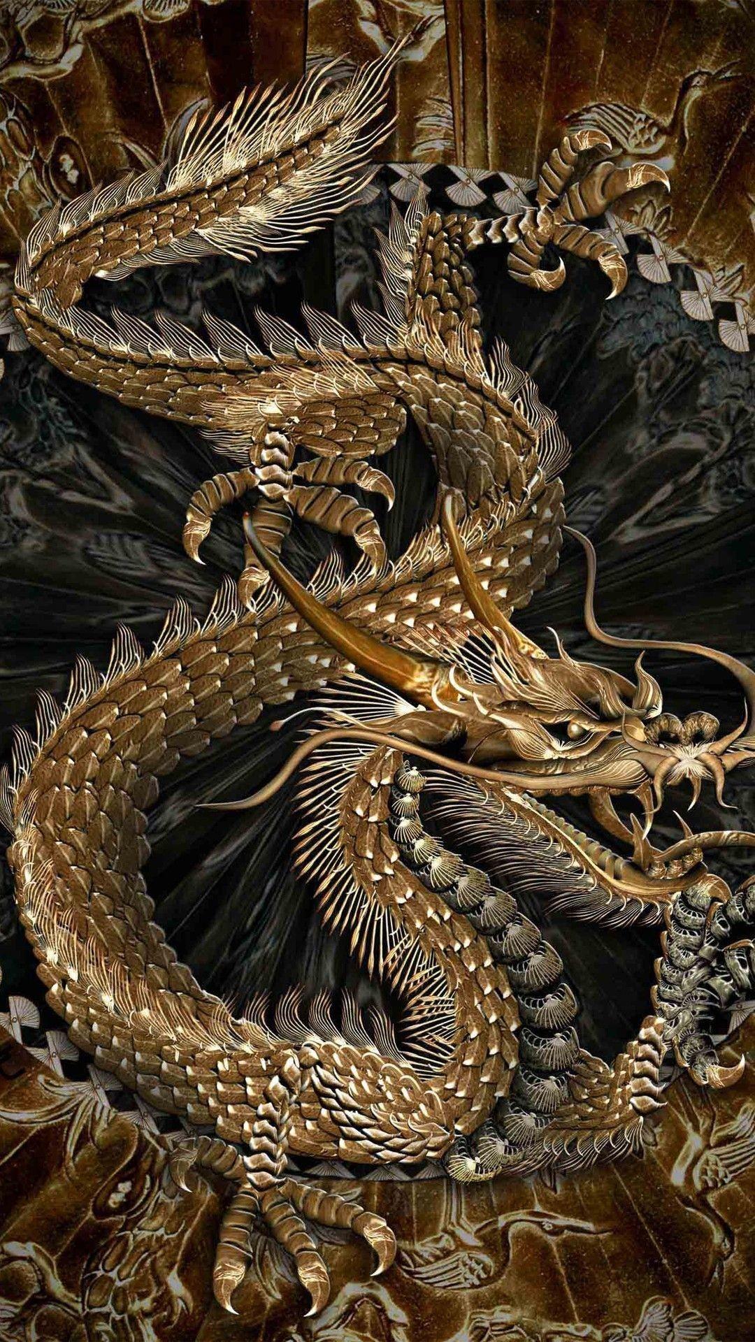 Res: 1080x1920, Oriental Dragon Wallpaper   Chinese dragon Wallpaper