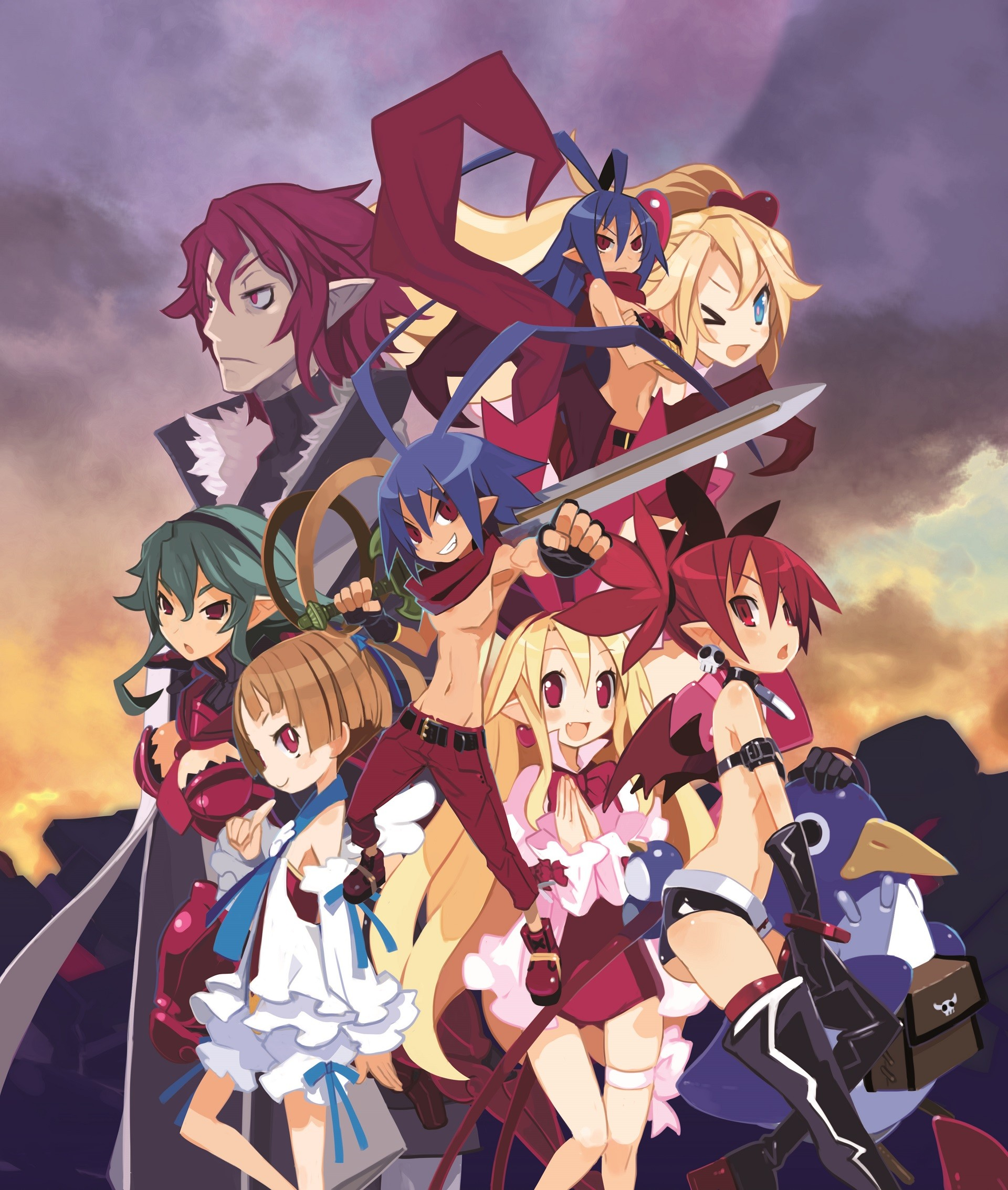 Res: 1920x2267, disgaea laharl etna and flonne anime