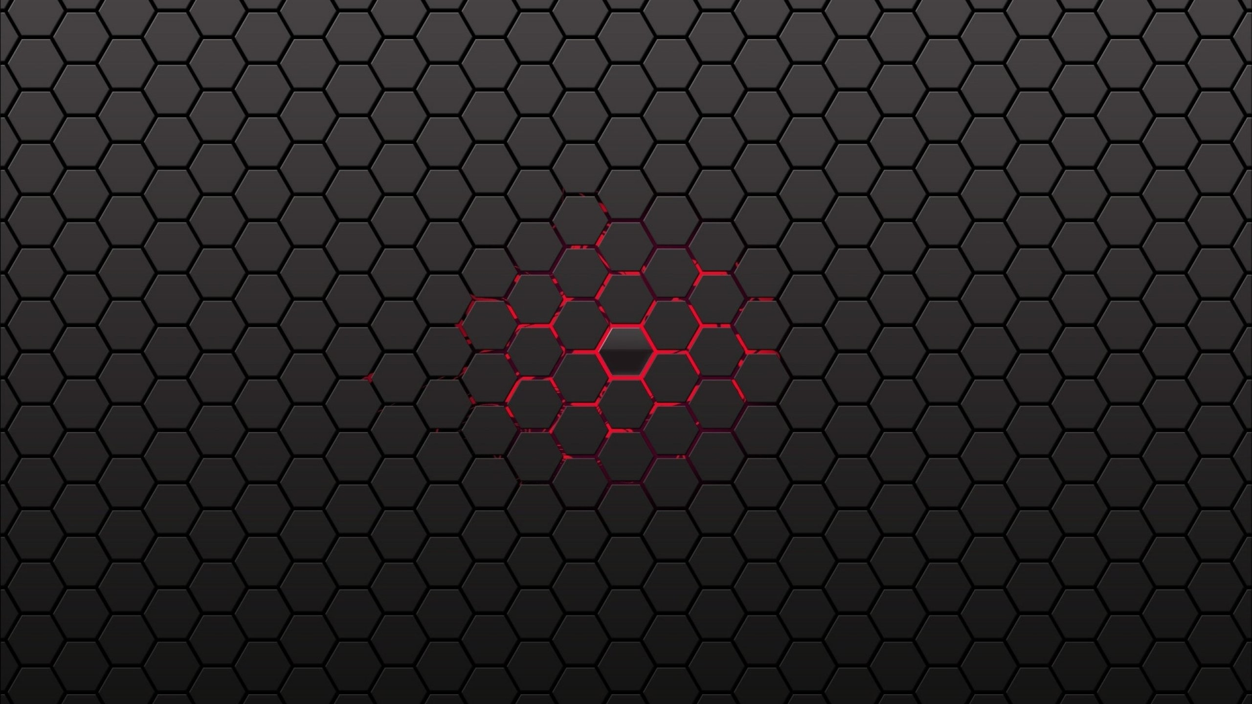 Res: 2560x1440, Black Honeycomb Wallpaper Center Lines Backgrounds Red wallpaper |   | 914407 | WallpaperUP
