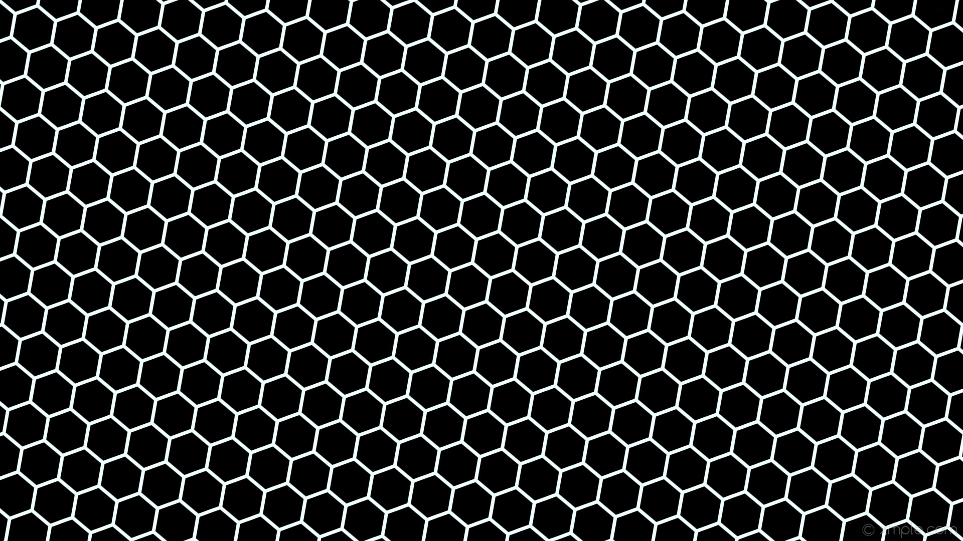 Res: 1920x1080, wallpaper beehive black honeycomb white hexagon azure #000000 #f0ffff  diagonal 50° 7px 82px