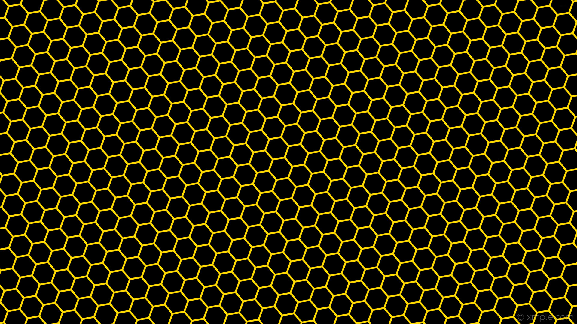 Res: 1920x1080, wallpaper yellow black honeycomb hexagon beehive gold #000000 #ffd700  diagonal 40° 6px 69px