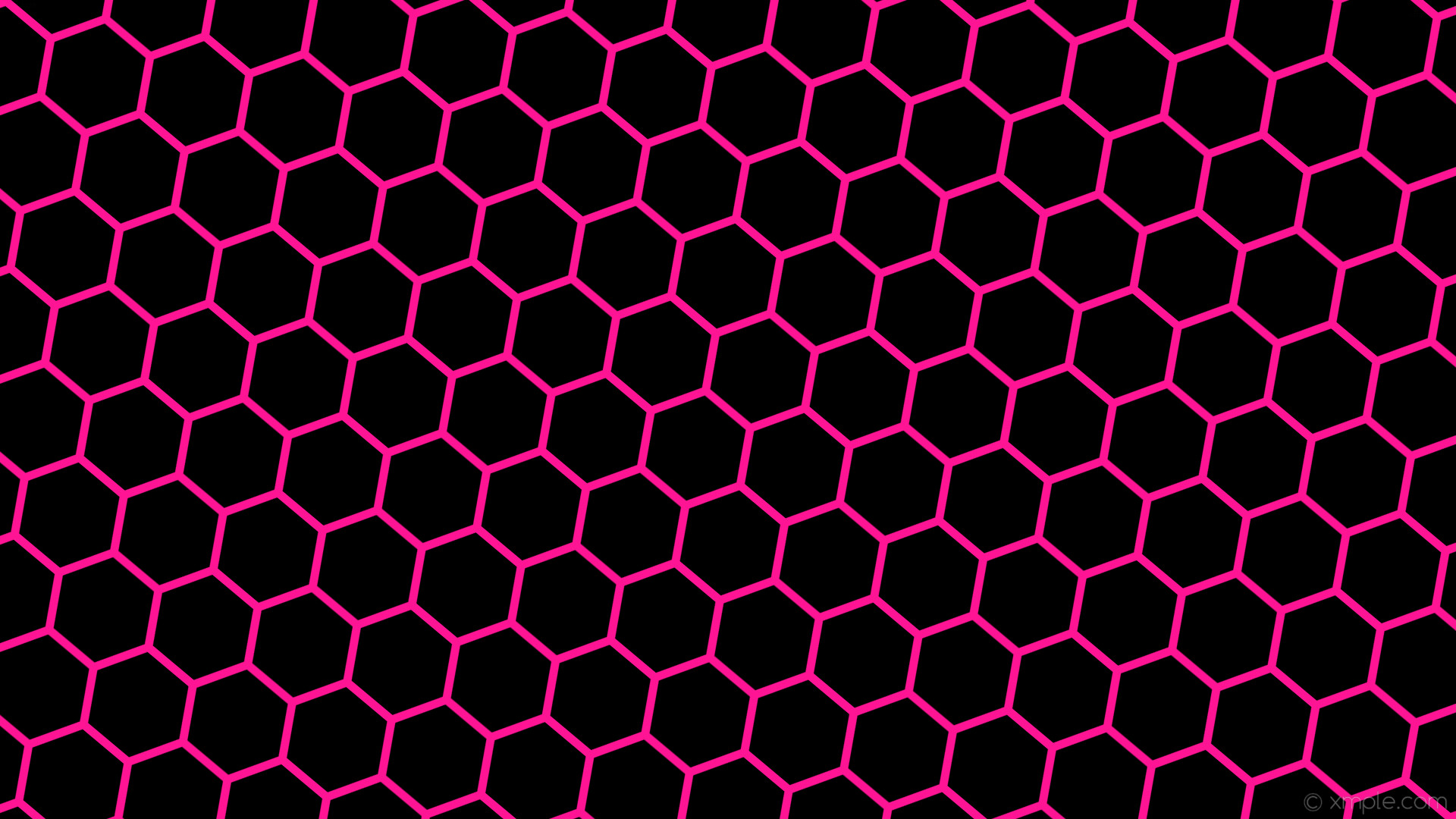 Res: 1920x1080, wallpaper beehive black honeycomb hexagon pink deep pink #000000 #ff1493  diagonal 50° 11px