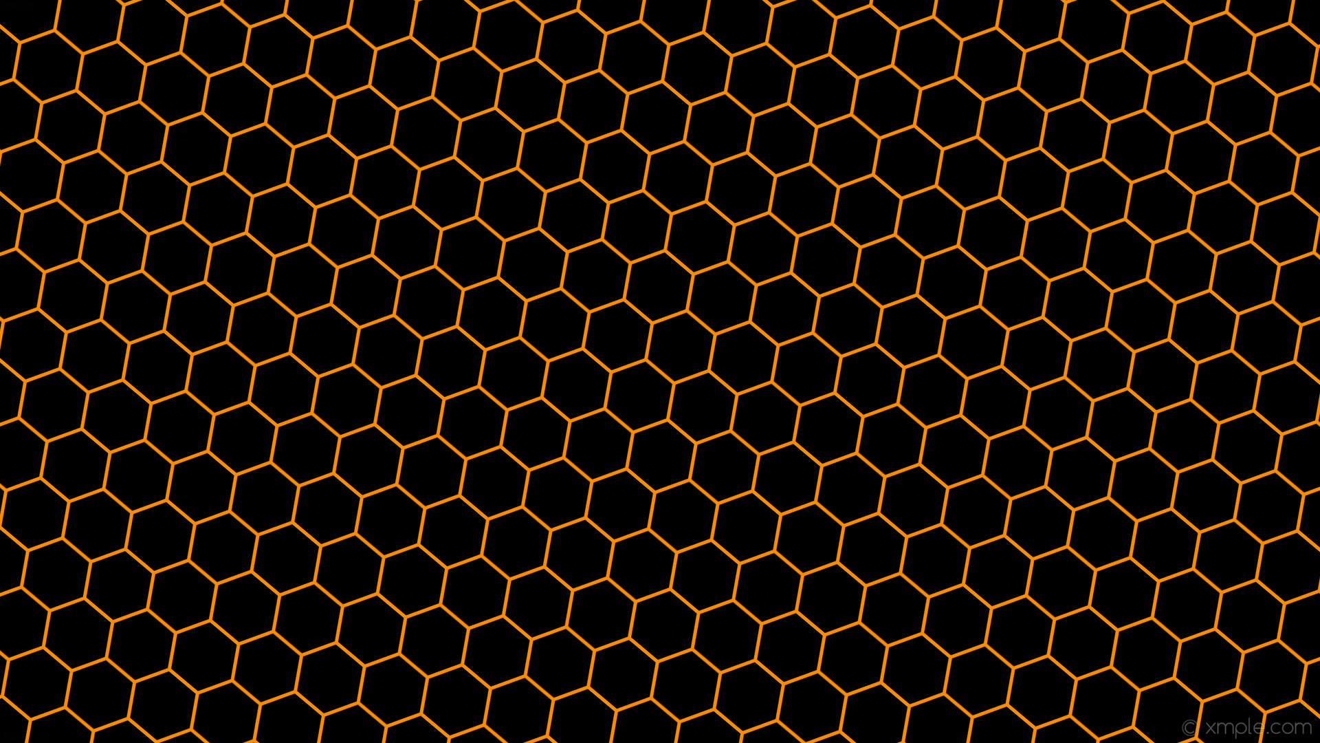 Res: 1920x1080, wallpaper beehive orange honeycomb hexagon black dark orange #000000  #ff8c00 diagonal 50° 5px
