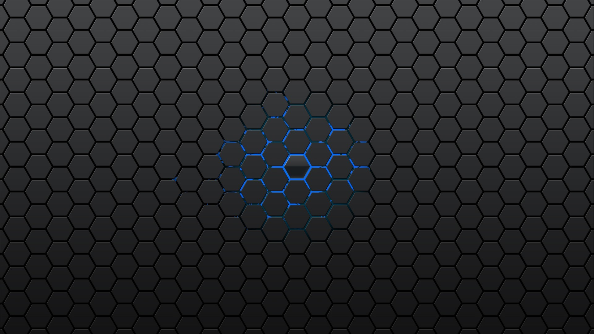 Res: 1920x1080, Black Honeycomb Pattern Wallpaper