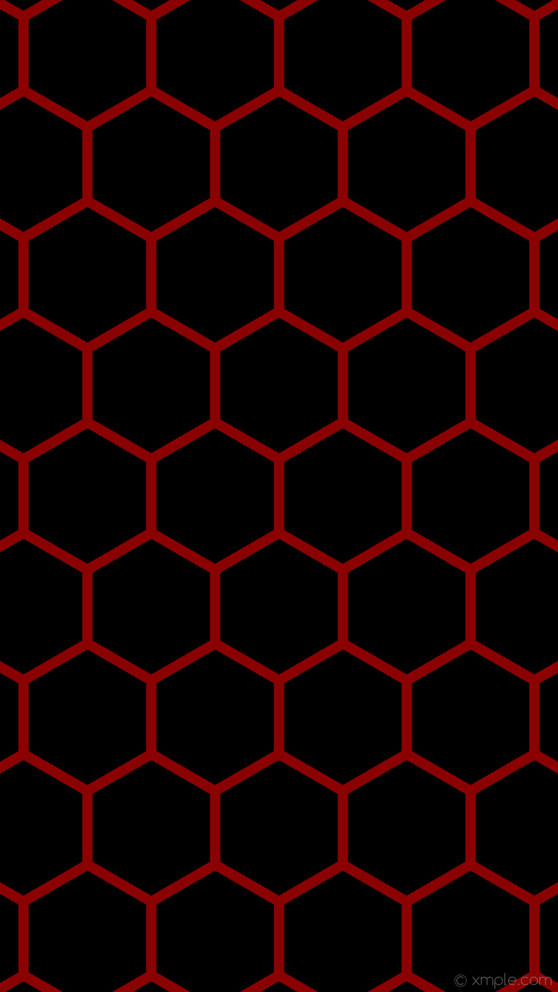 Res: 1800x3200, wallpaper red honeycomb black hexagon beehive dark red #000000 #8b0000 0°  33px 412px