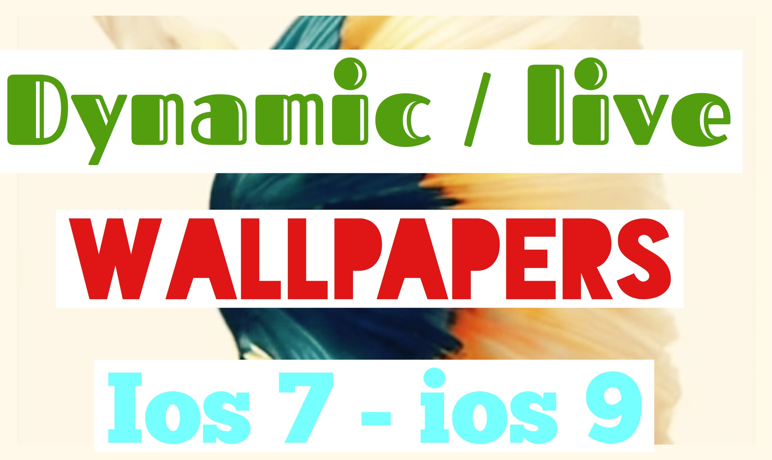 Res: 3264x1943, how to get new dynamic/live/animated wallpapers on iphone ipad ipod (ALL IOS  SUPPORTED)