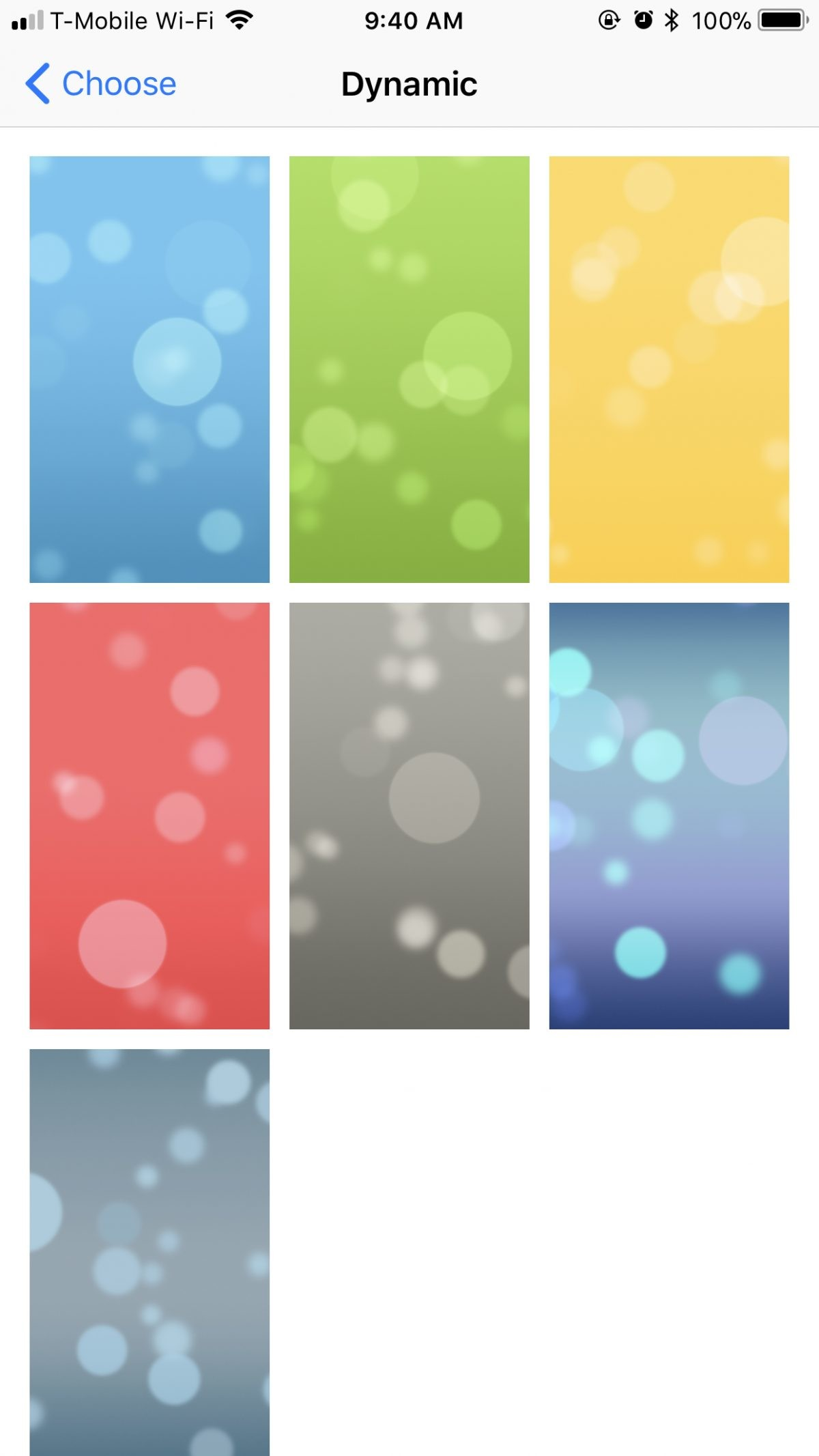 Res: 1200x2133, In the Dynamic wallpaper category, there have been zero changes from iOS 10  to iOS 11. You still have the same seven options: bubbles bouncing around  your ...