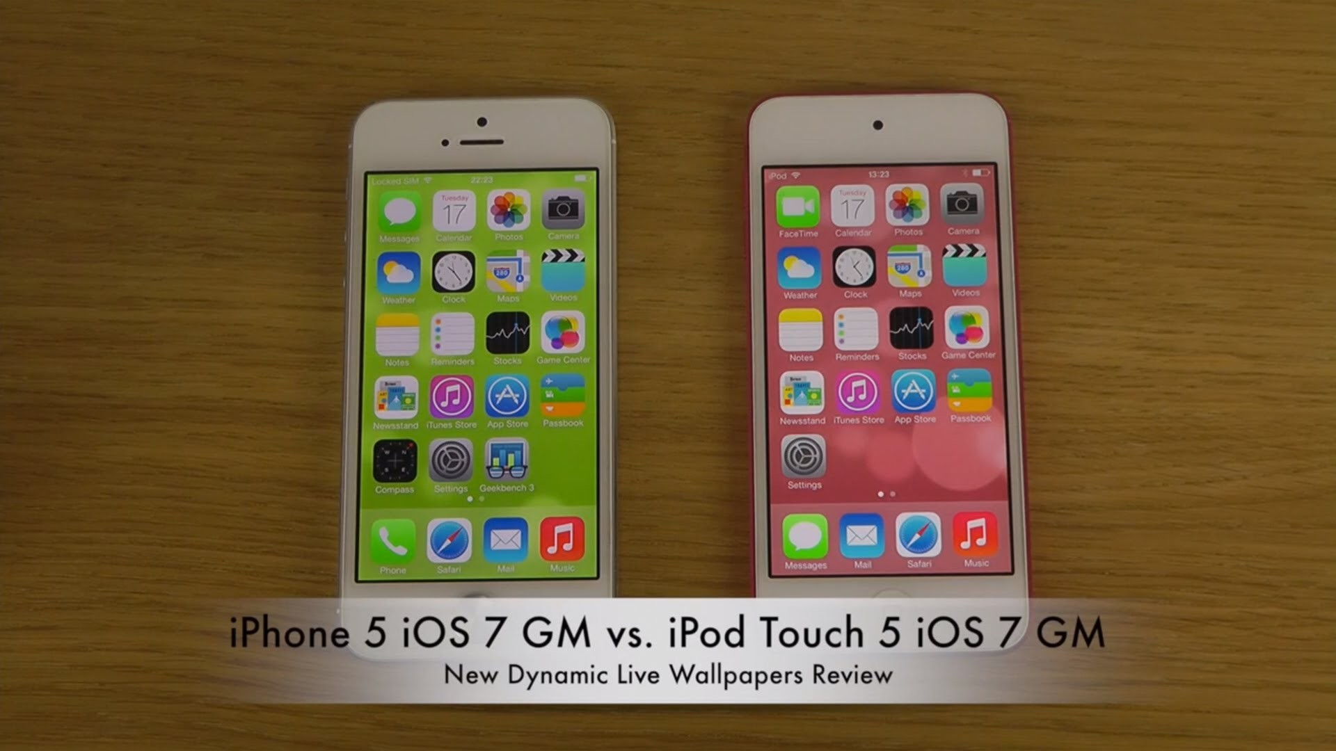 Res: 1920x1080, iPhone 5 iOS 7 GM vs. iPod Touch 5 iOS 7 GM - New Dynamic Live Wallpapers  Comparison Review - YouTube