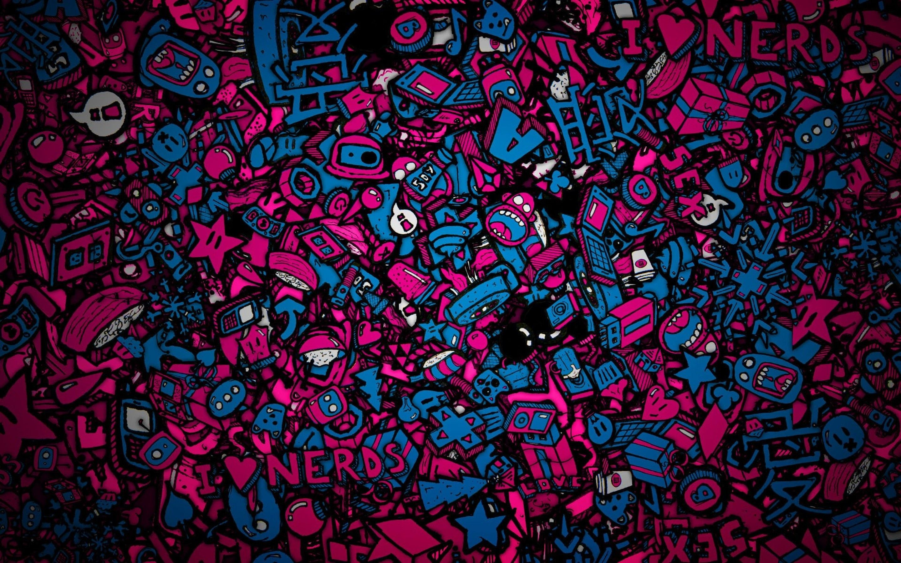Res: 2880x1800, Colorful Love Nerds WallPaper HD -  http://imashon.com/w/abstract/colorful-love-nerds-wallpaper-hd.html