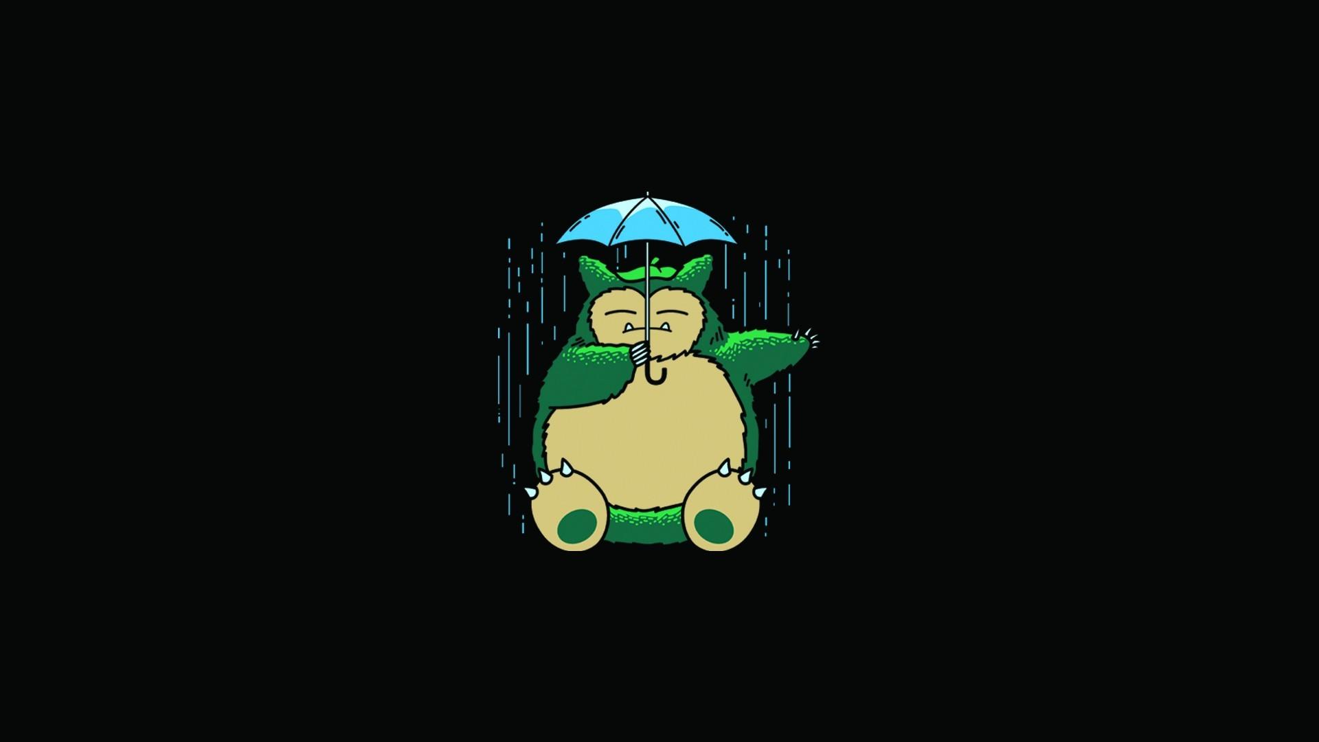 Res: 1920x1080, My Neighbor Totoro Totoro Anime Umbrella Rain Wallpaper | 1920X1080