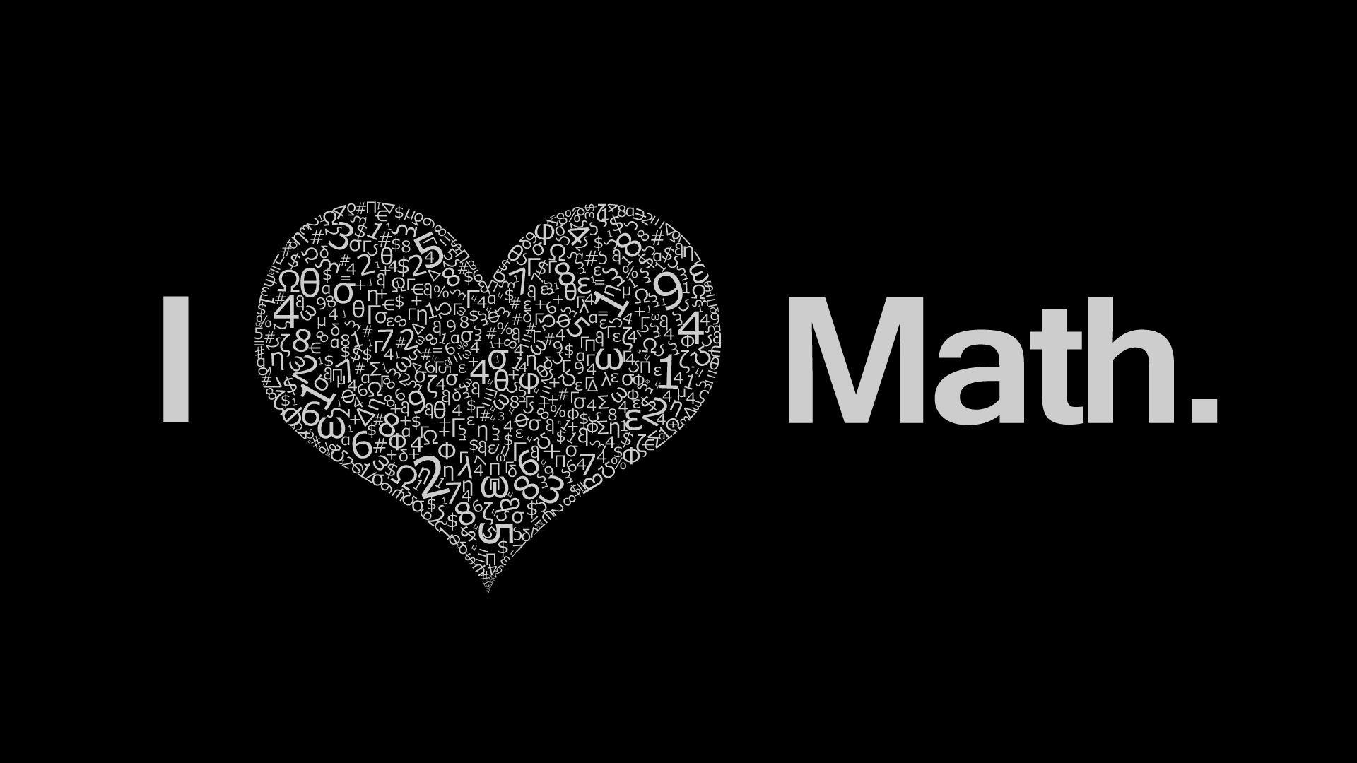 Res: 1920x1080, I Love Math wallpaper