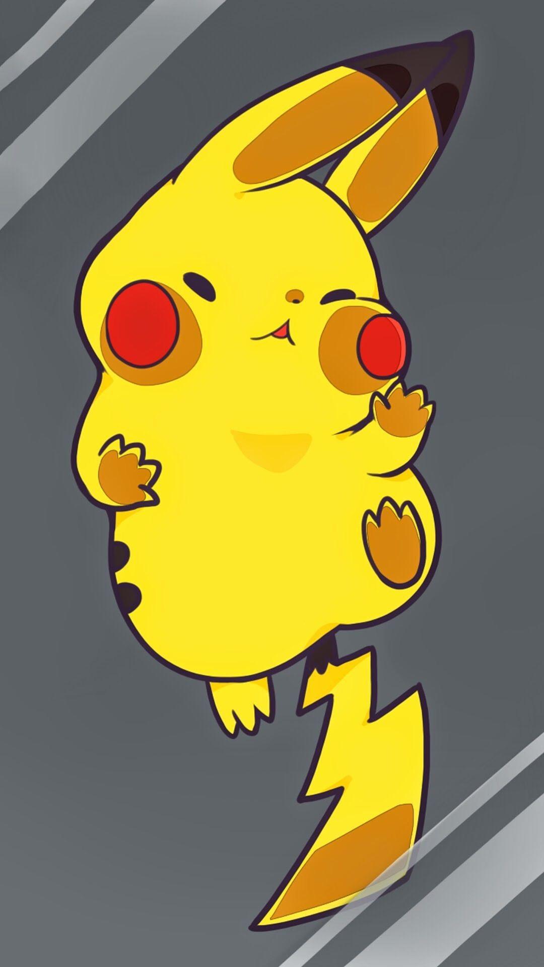 Res: 1080x1920, Tap image for more iPhone 6 Plus Pikachu wallpapers! Pikachu - @mobile9 | Cute  wallpapers for iPhone 5/5s, iPhone 6 & iPhone 6 plus #kawaii #chibi #pokemon
