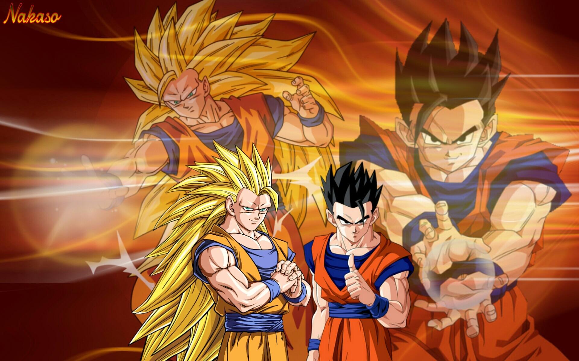 Res: 1920x1200, DBZ Goku SSJ3 and Ultimate Gohan by Nakaso on DeviantArt