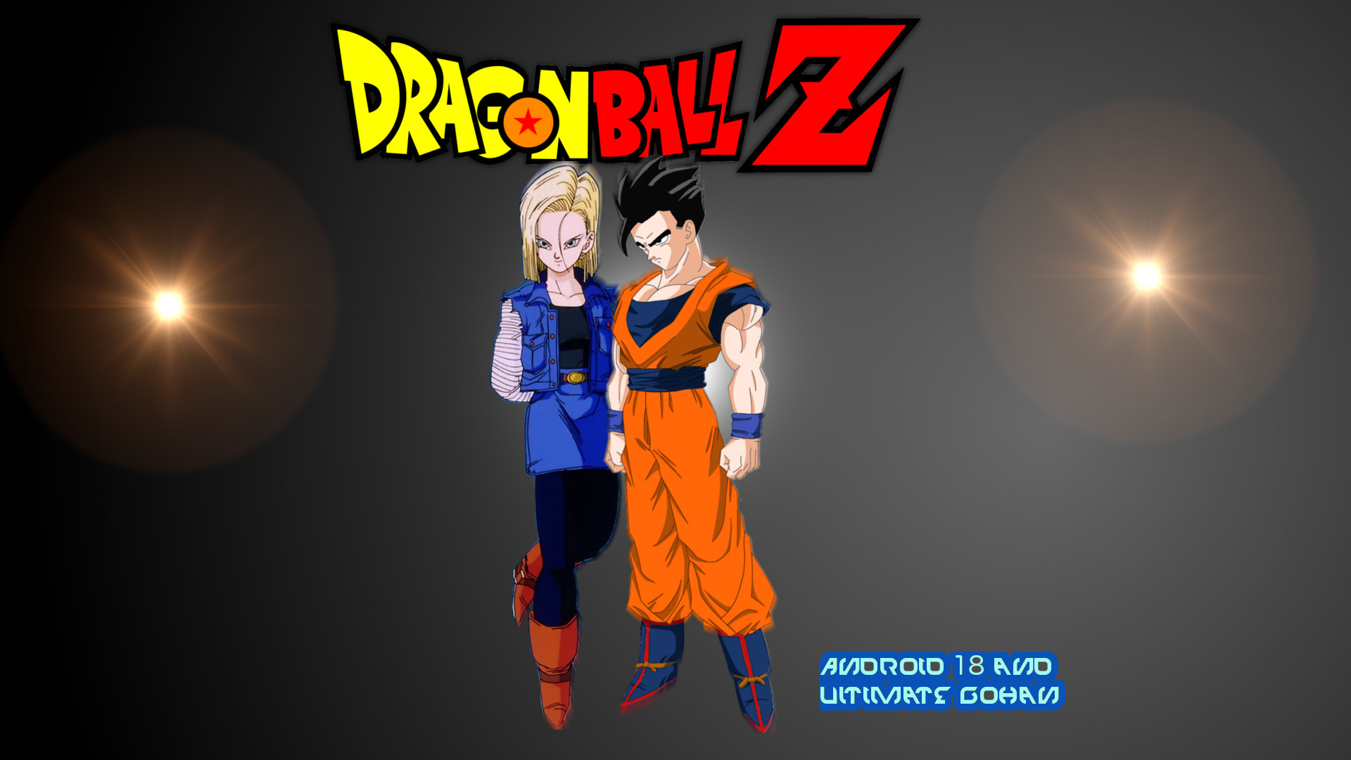 Res: 1920x1080, Android 18 and Ultimate/Mystic Gohan Wallpaper by DragonsWarth18 .