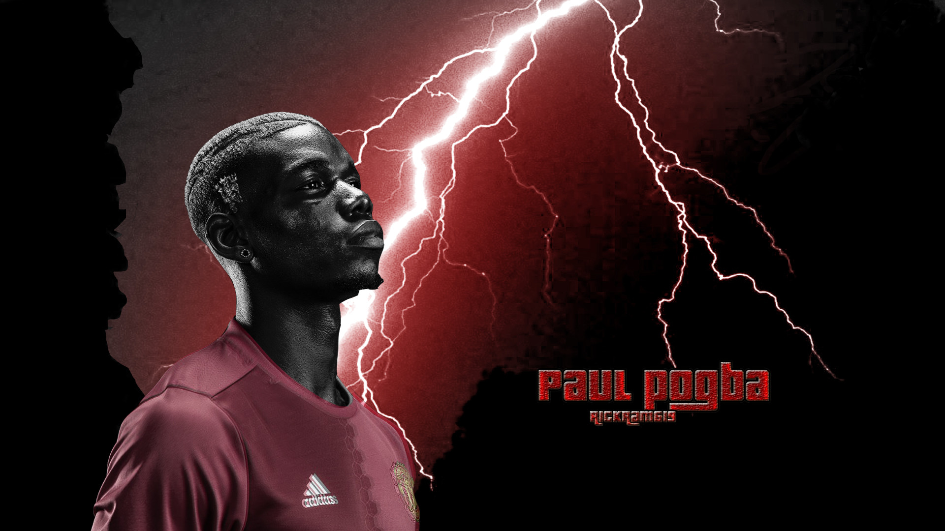 Res: 1920x1080, ... Paul Pogba Manchester United 2017 wallpaper by RICKram619