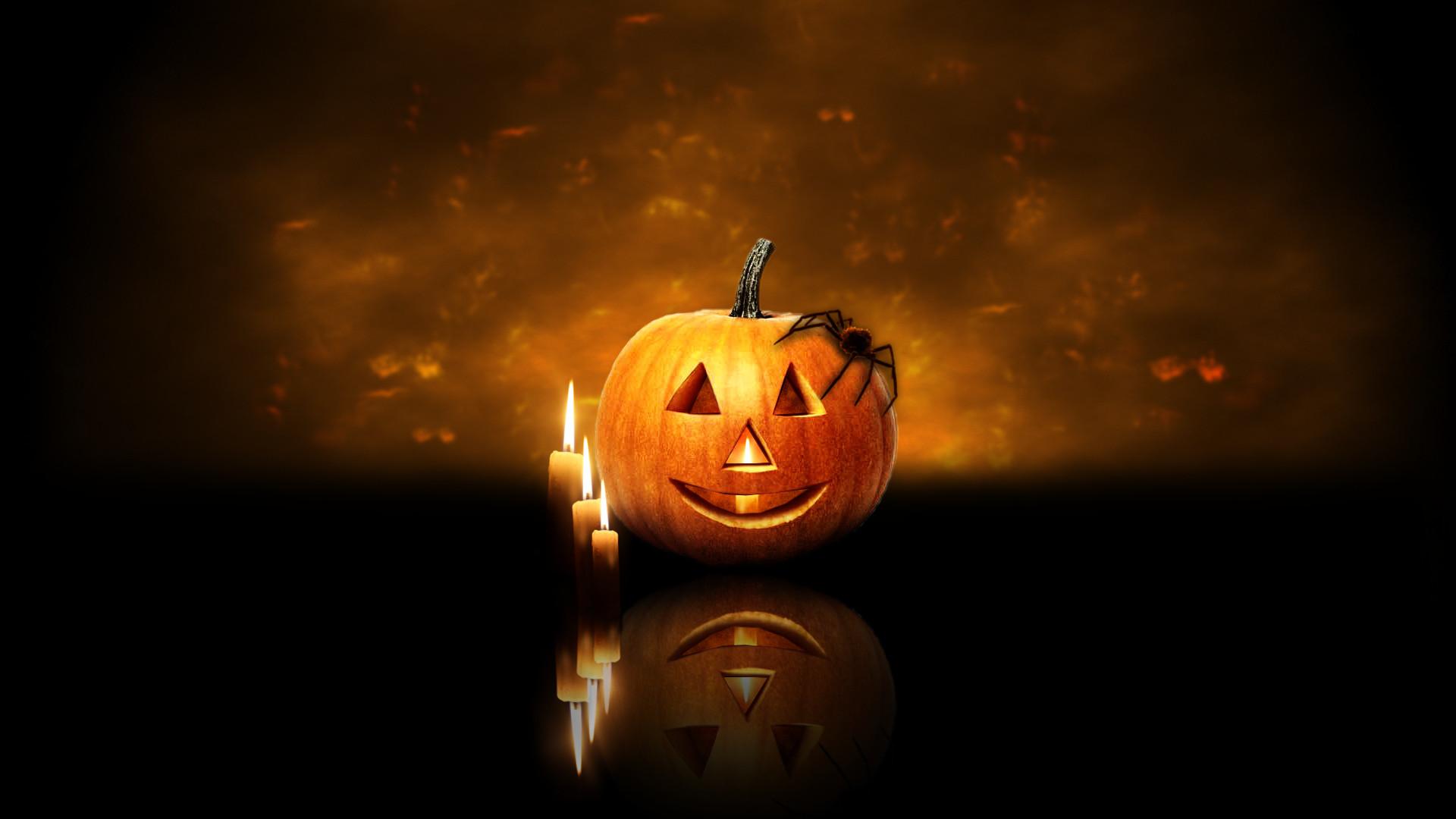 Res: 1920x1080, Halloween Pumpkin Candles