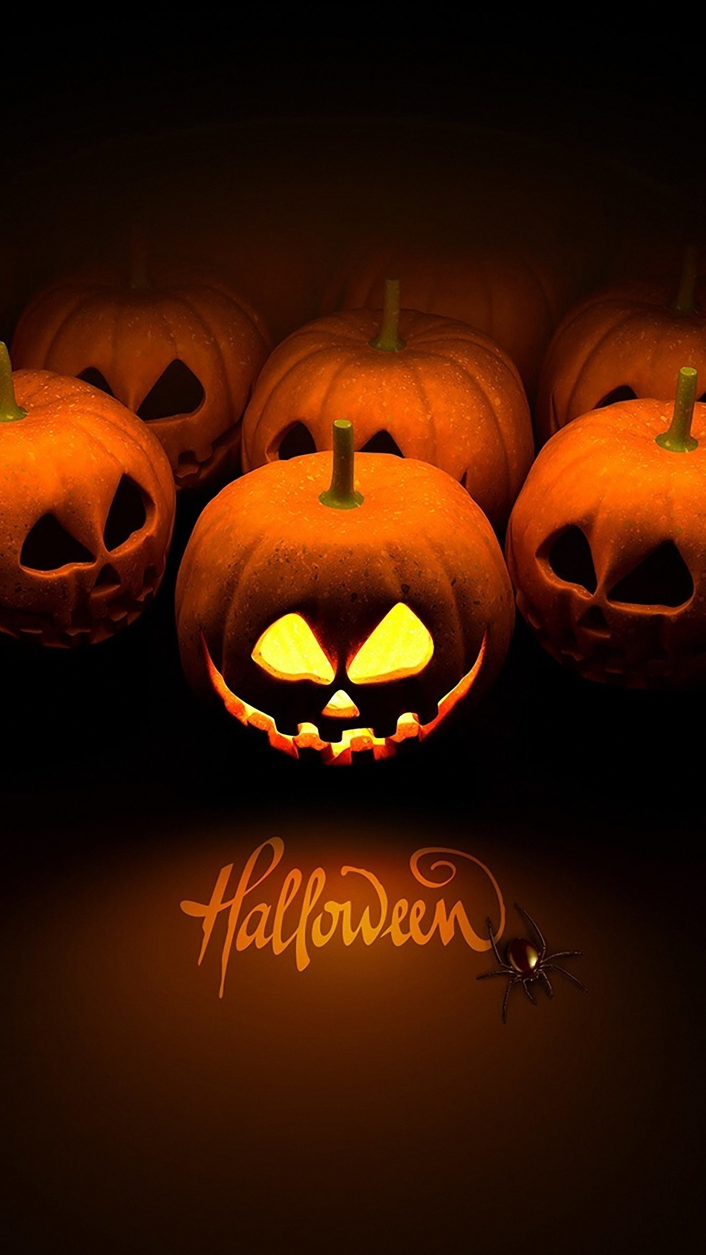 Res: 1440x2560, Cute Halloween Pattern Wallpaper