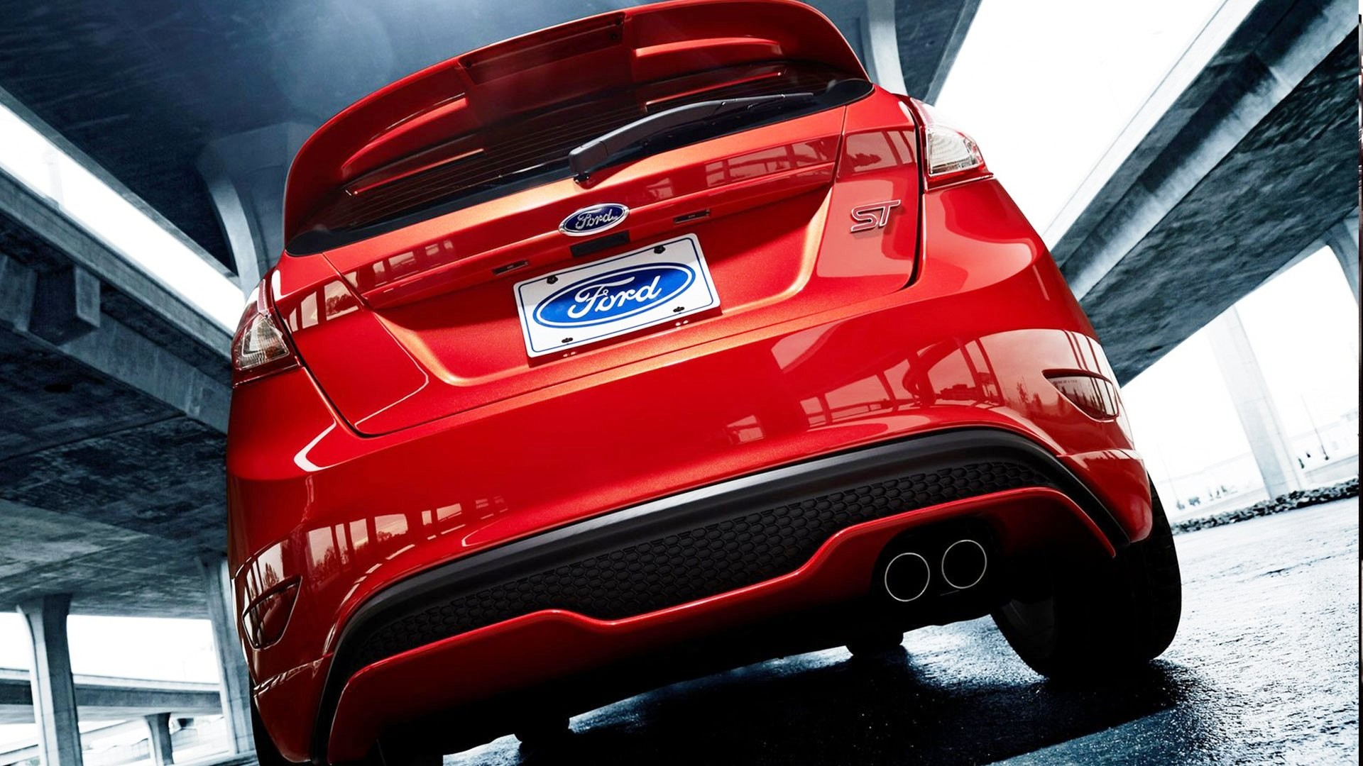 Res: 1920x1080, ... Ford-Fiesta-ST-Back-HD-Wallpapers ...