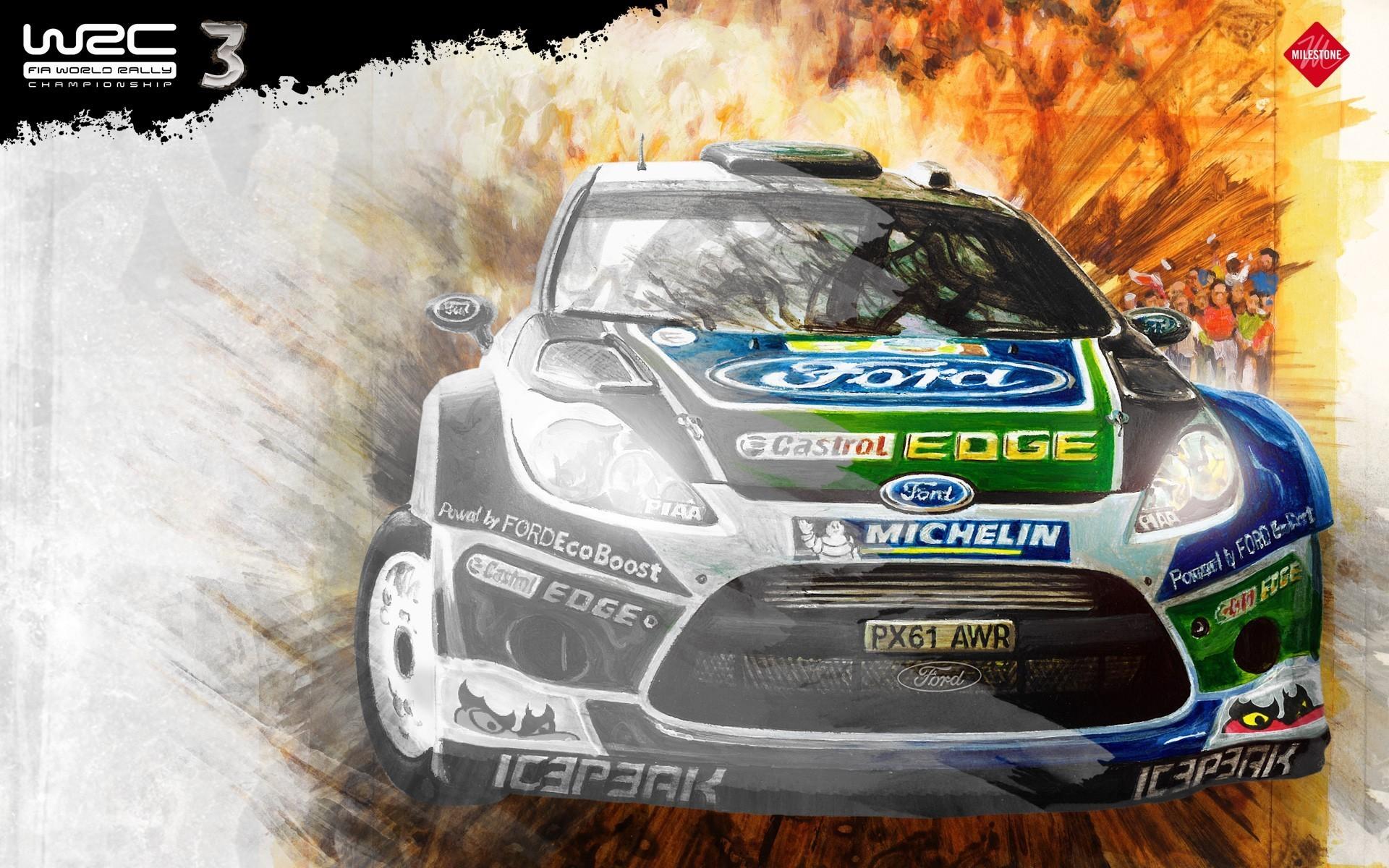 Res: 1920x1200, Vehicles racing wrc world championship fiesta car wallpaper