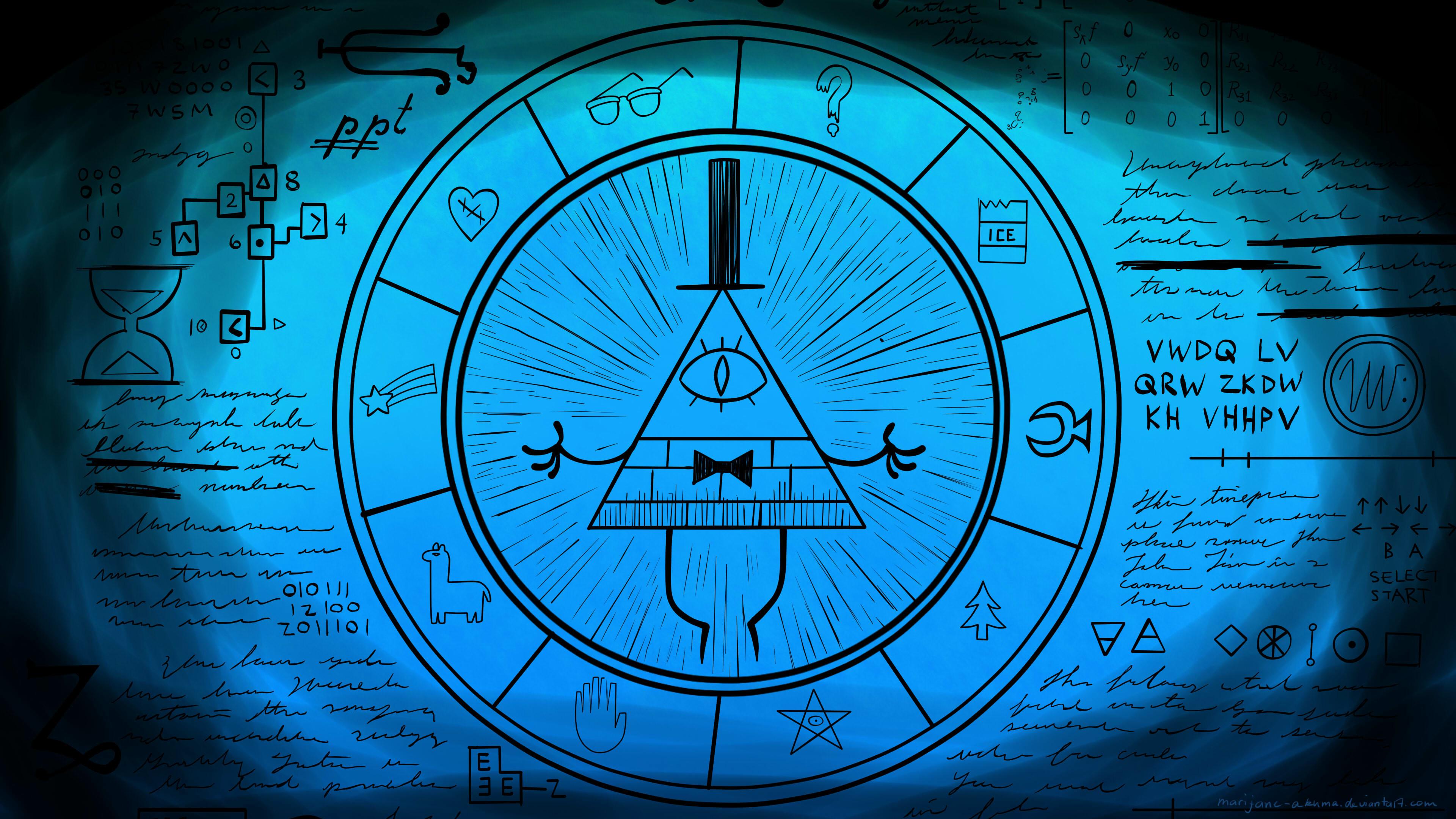 Res: 3840x2160, ... Bill Cipher Wheel Part 5 by Marijane-Akuma