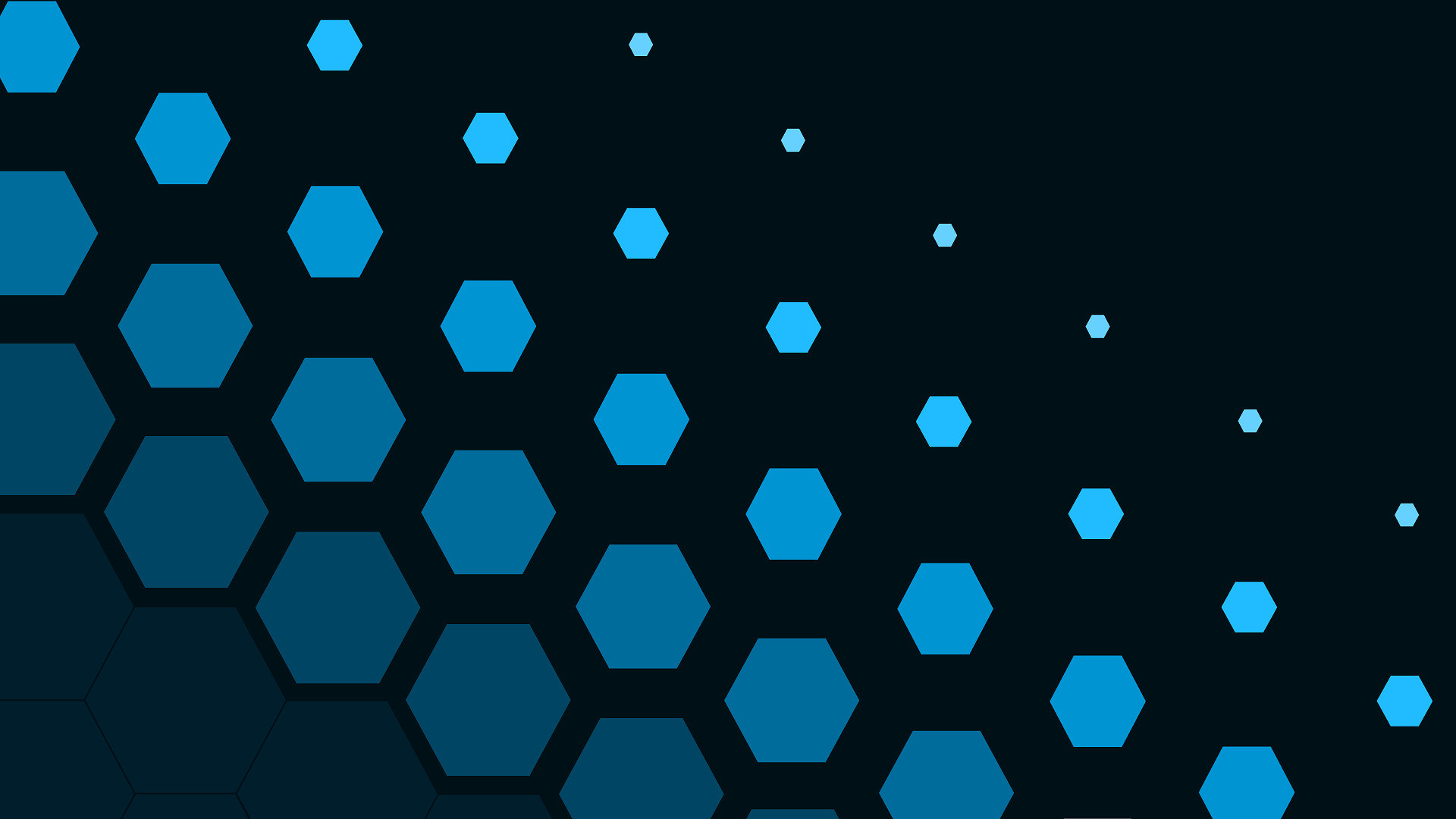 Res: 1920x1080, digital Art, Minimalism, CGI, Simple Background, Geometry, Hexagon, Blue  Wallpapers HD / Desktop and Mobile Backgrounds