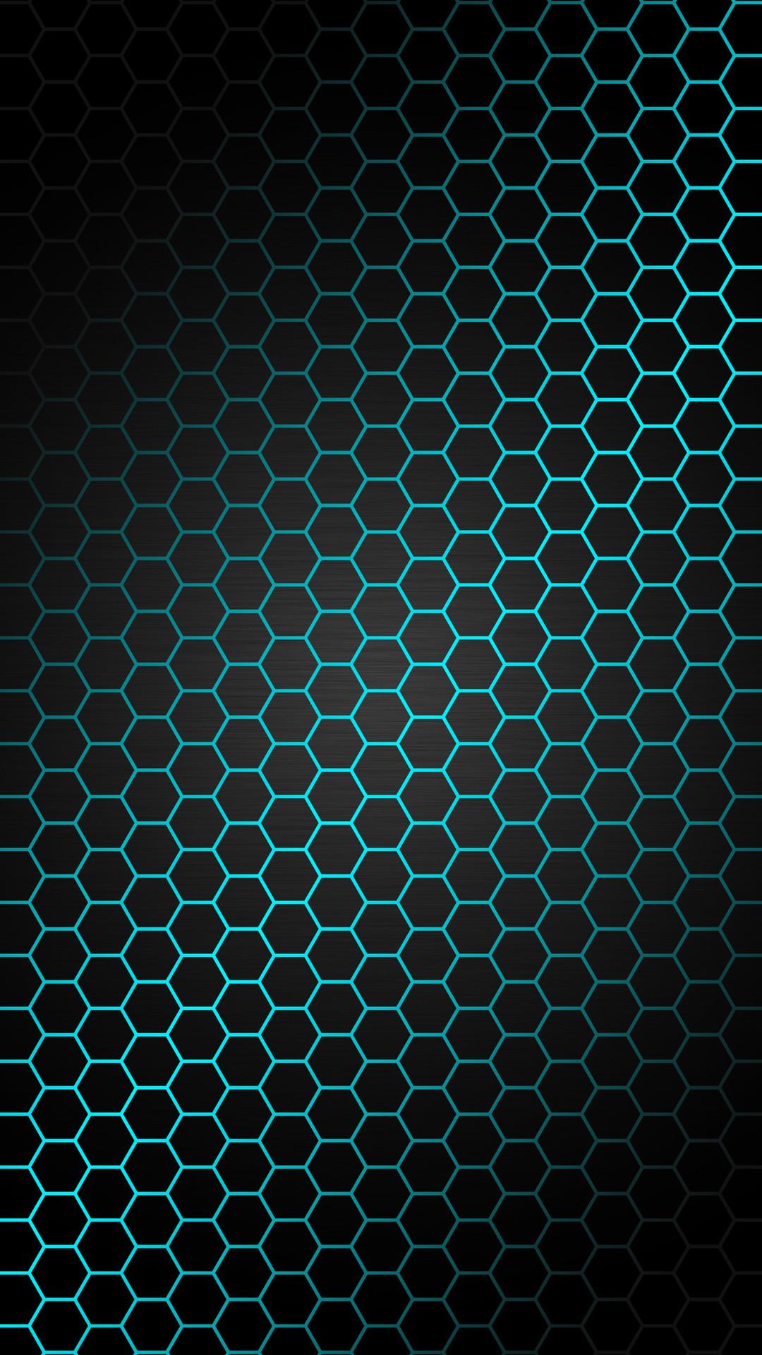 Res: 1080x1920, Blue Hexagon Pattern Wallpaper