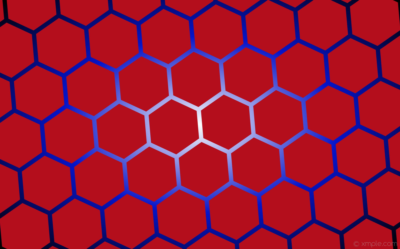 Res: 2880x1800, wallpaper gradient hexagon white red black blue glow #b40e1c #ffffff  #0315cb diagonal 5