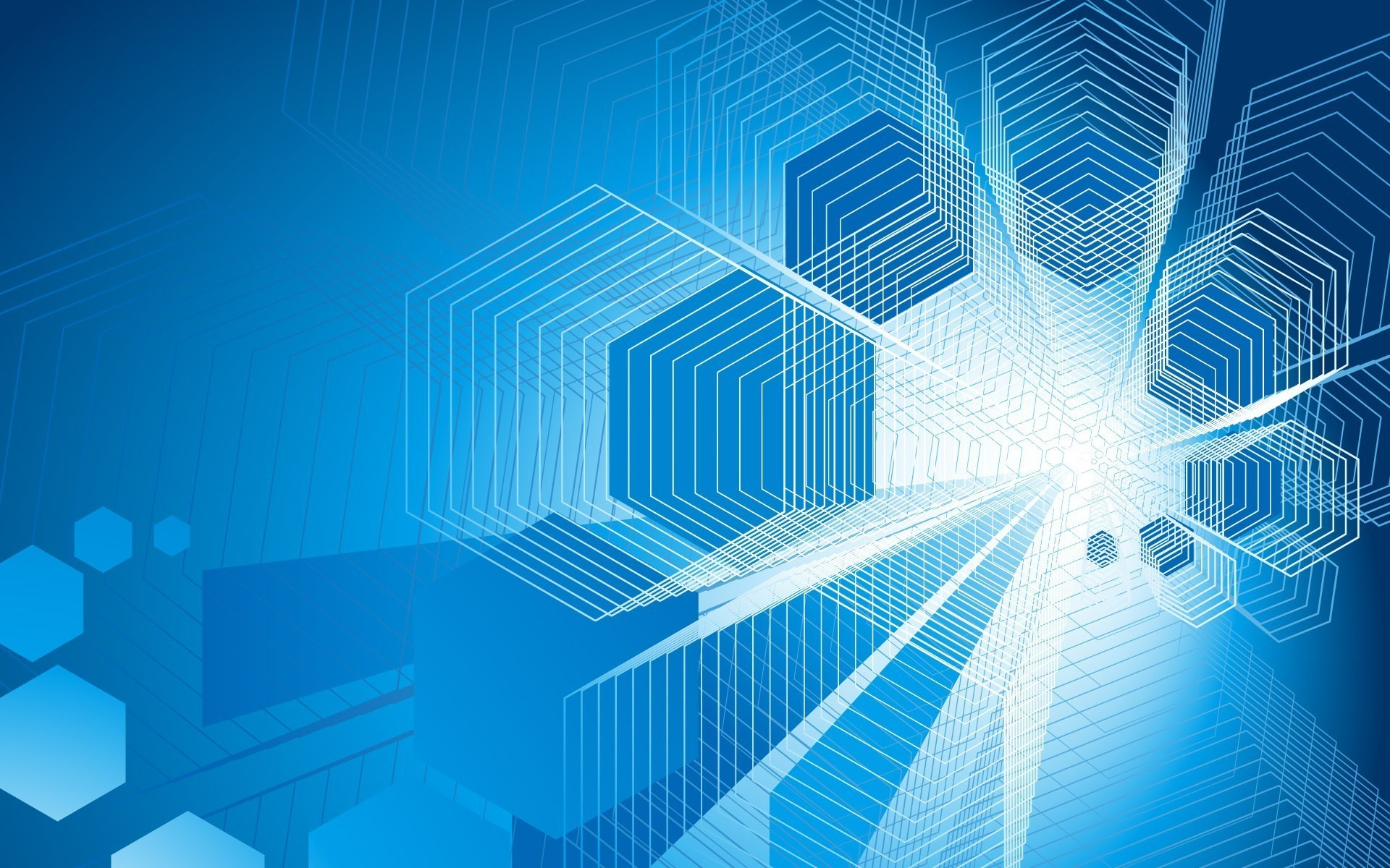 Res: 1920x1200, geometry simple background blue background abstract digital art artwork hexagon  wallpaper and background