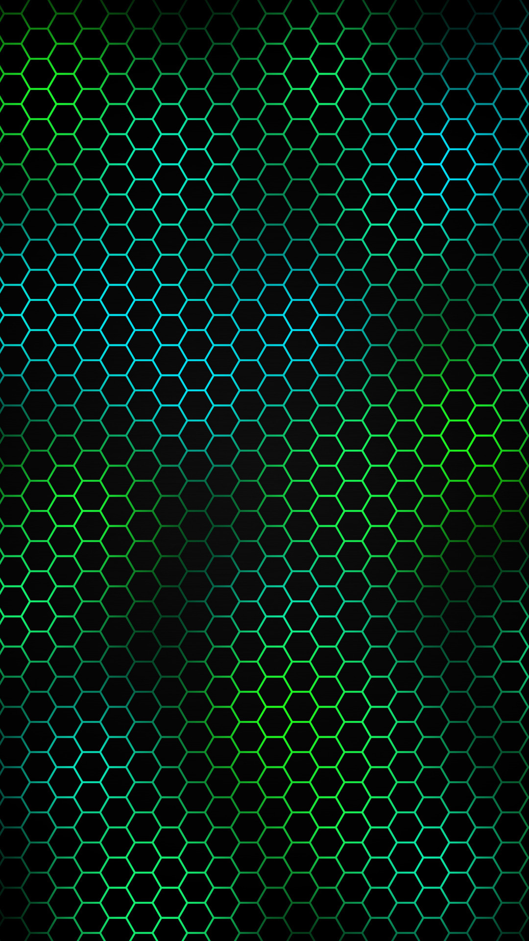 Res: 1080x1920, Blue And Green Hexagon Pattern Wallpaper