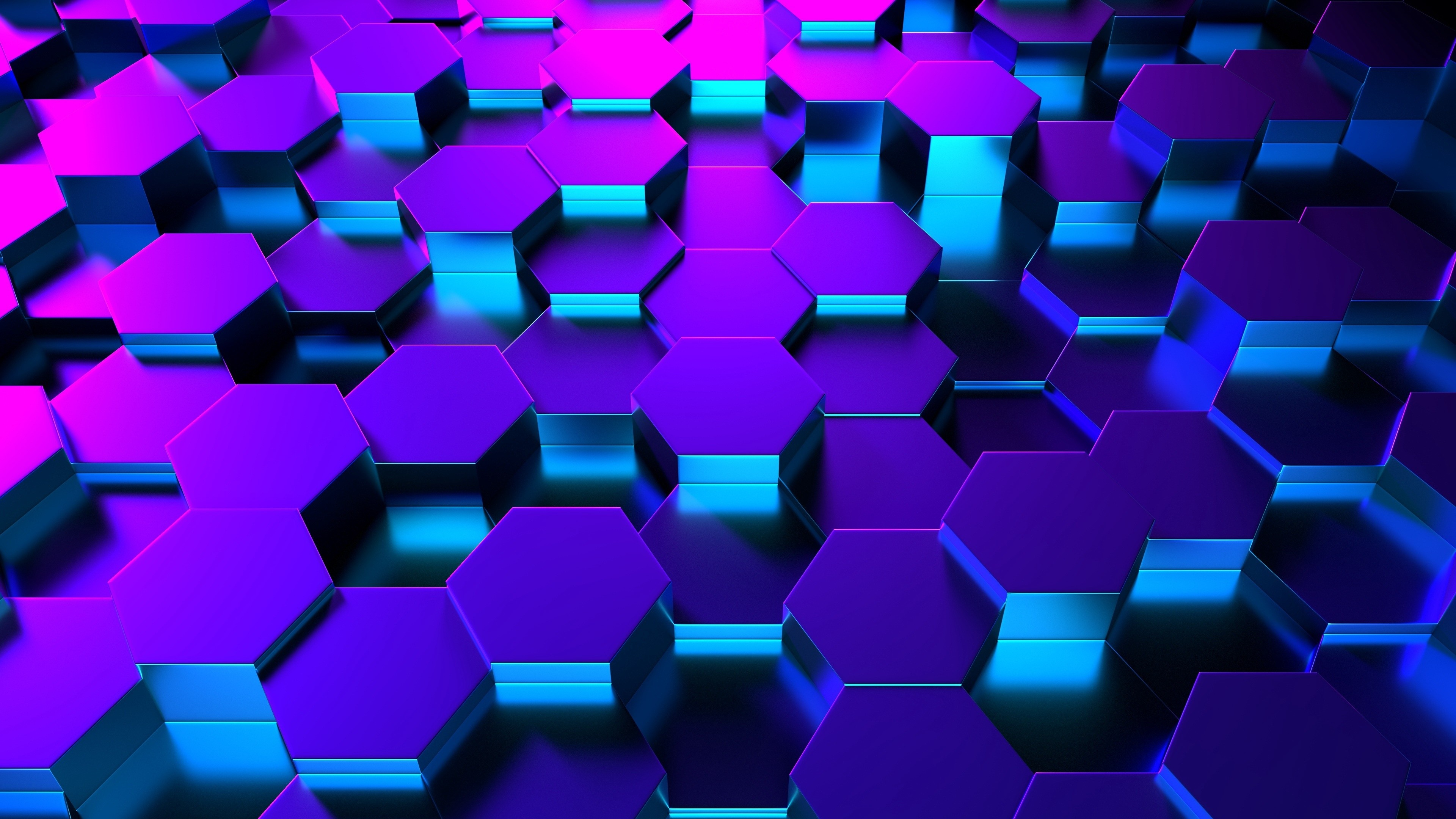 Res: 3840x2160, Blue 3D Hexagons Wallpaper   Wallpaper Studio 10   Tens of thousands HD and  UltraHD wallpapers for Android, Windows and Xbox