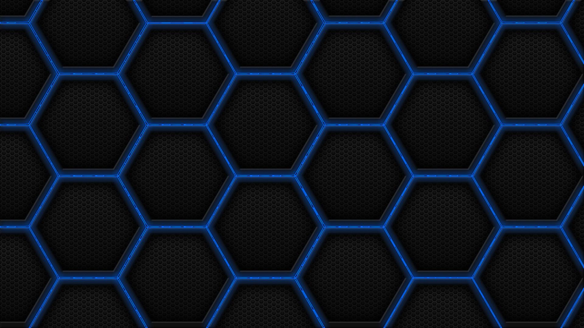 Res: 1920x1080, Hexagon Patter Wallpaper Blue