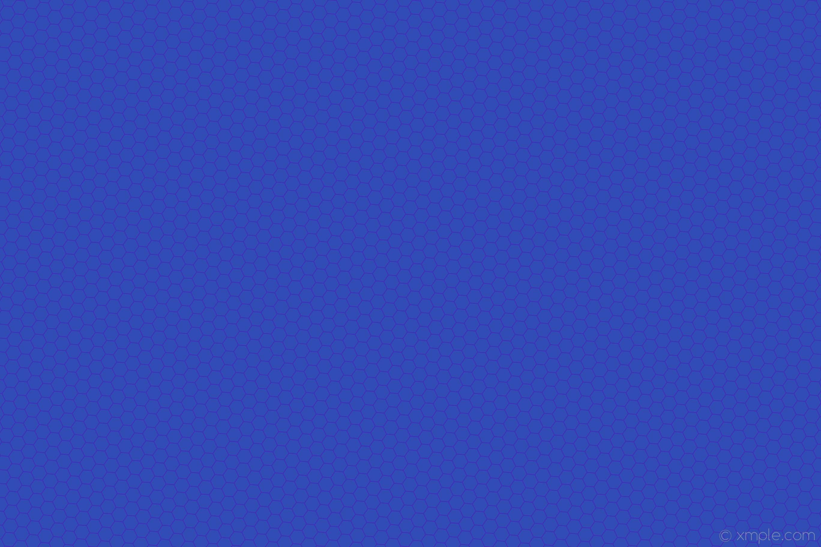 Res: 2736x1824, wallpaper beehive honeycomb blue hexagon #314db5 #3d31b5 diagonal 25° 3px  46px
