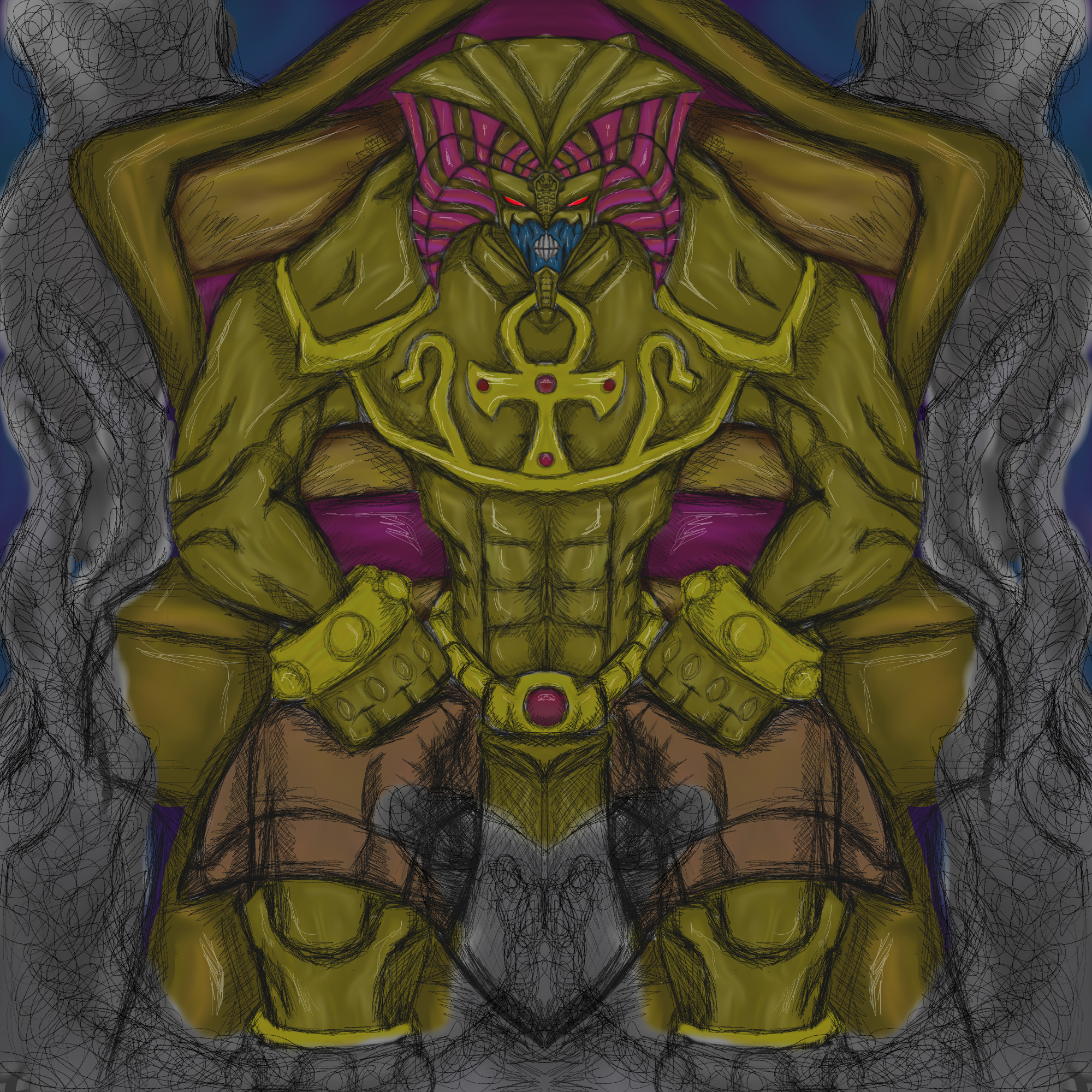Res: 2000x2000, ... dragonfire53511 Yugioh - Exodia the Forbidden One by dragonfire53511