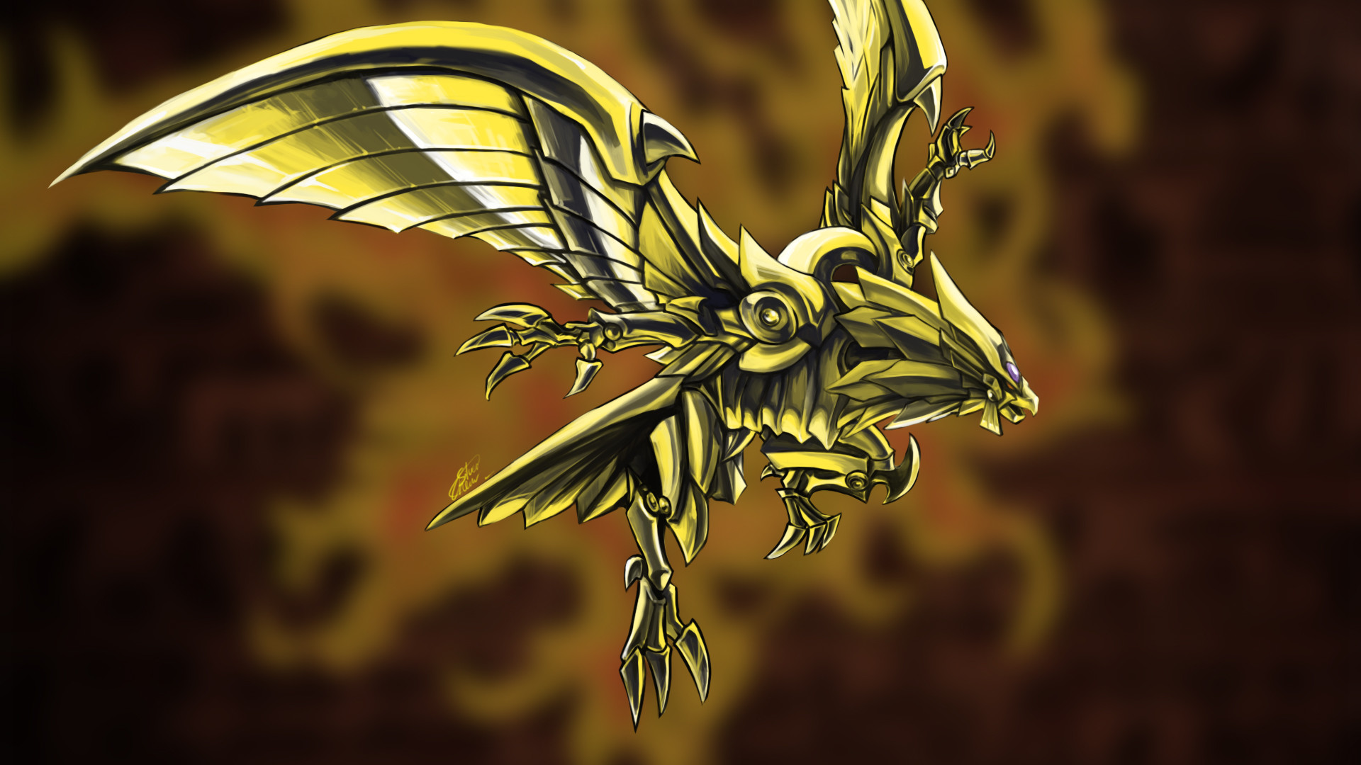Res: 1920x1080, ... Winged Dragon of Ra by Silver-Fate