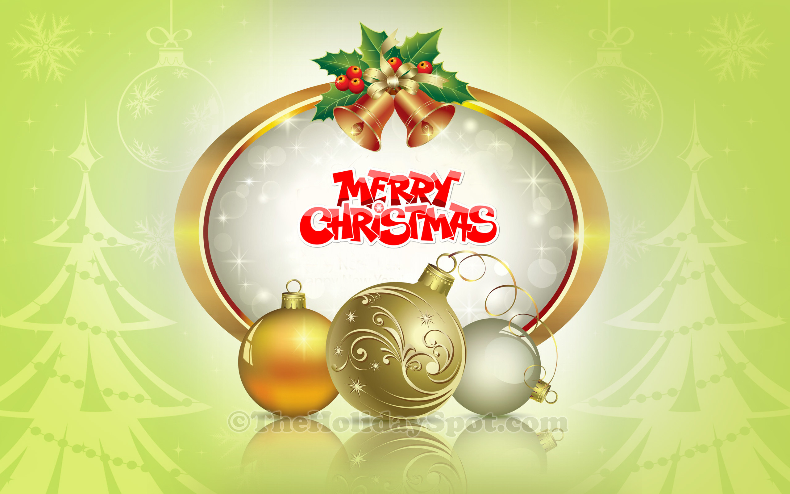 Res: 2560x1600, Merry Christmas Decoration Wallpaper